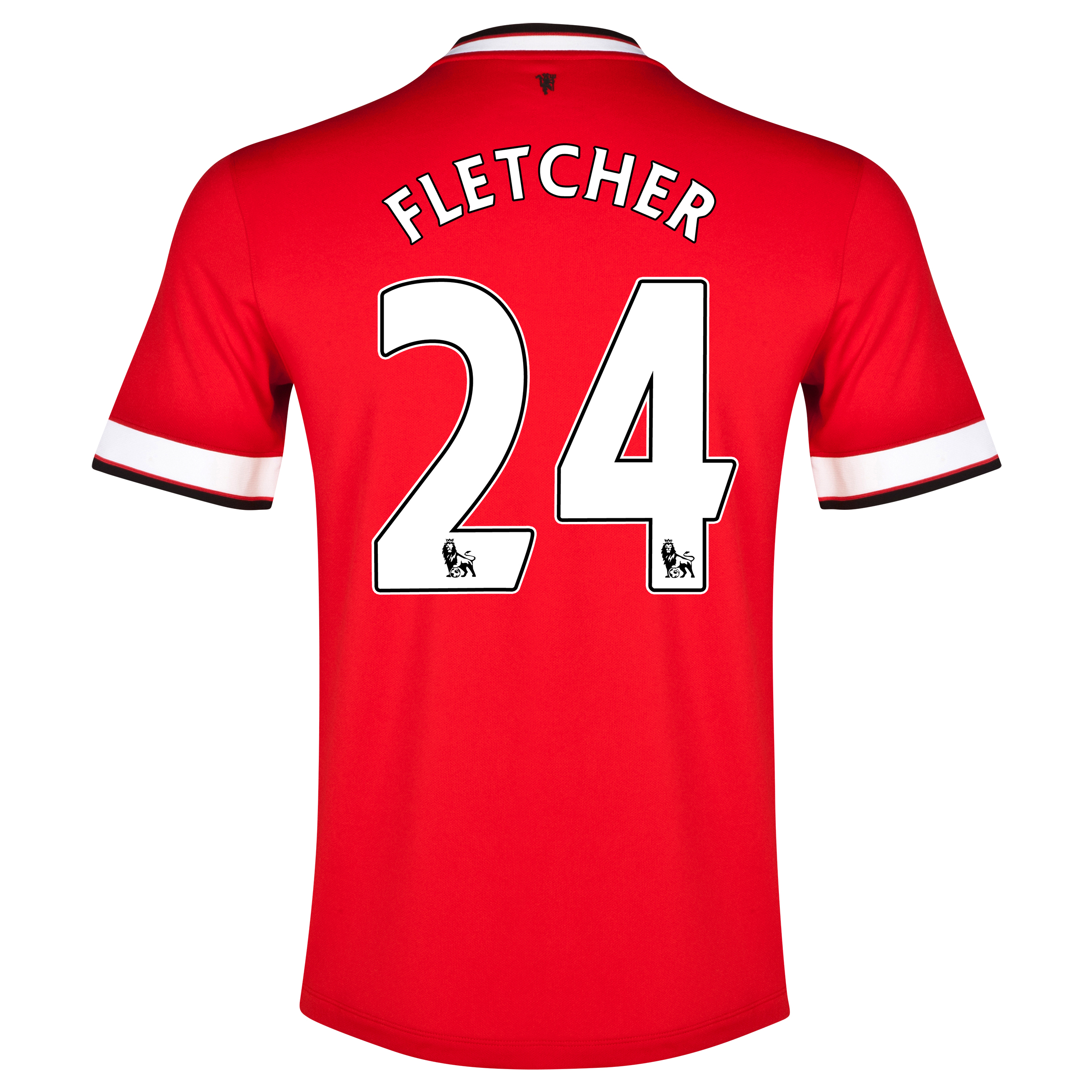 Manchester United Home Shirt 2014/15 Red with Fletcher 24 printing