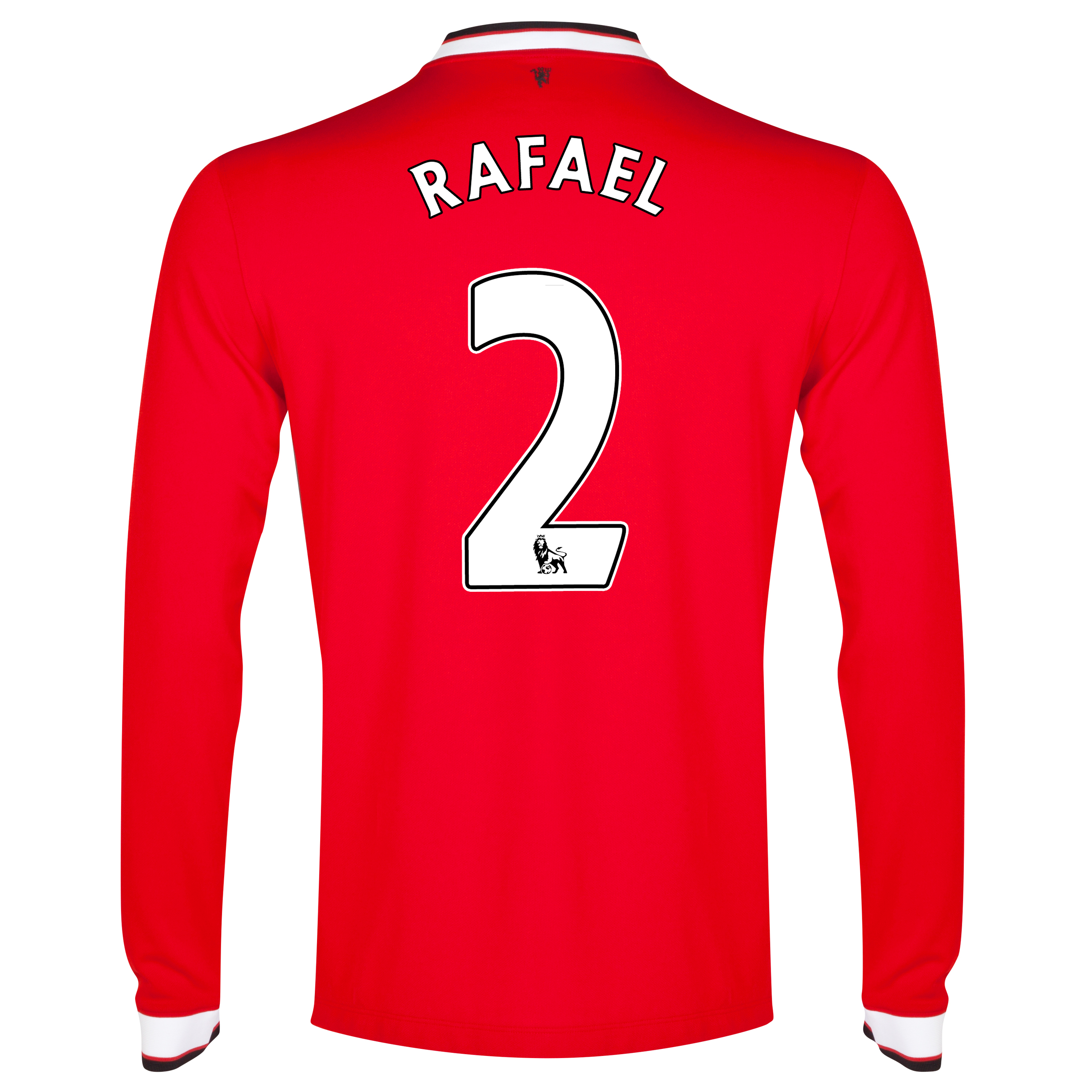 Manchester United Home Shirt 2014/15 - Long Sleeve Red with Rafael 2 printing