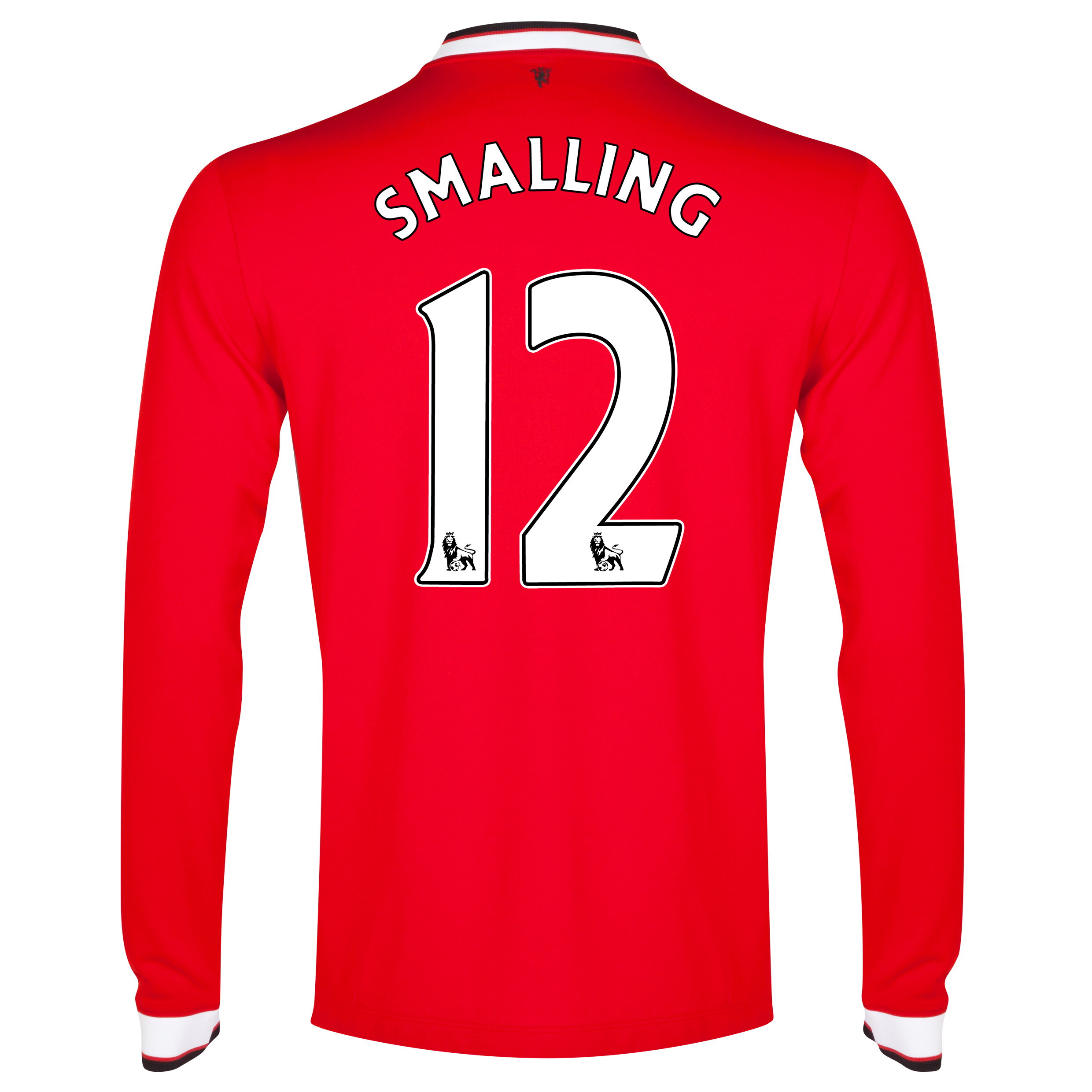 Manchester United Home Shirt 2014/15 - Long Sleeve Red with Smalling 12 printing