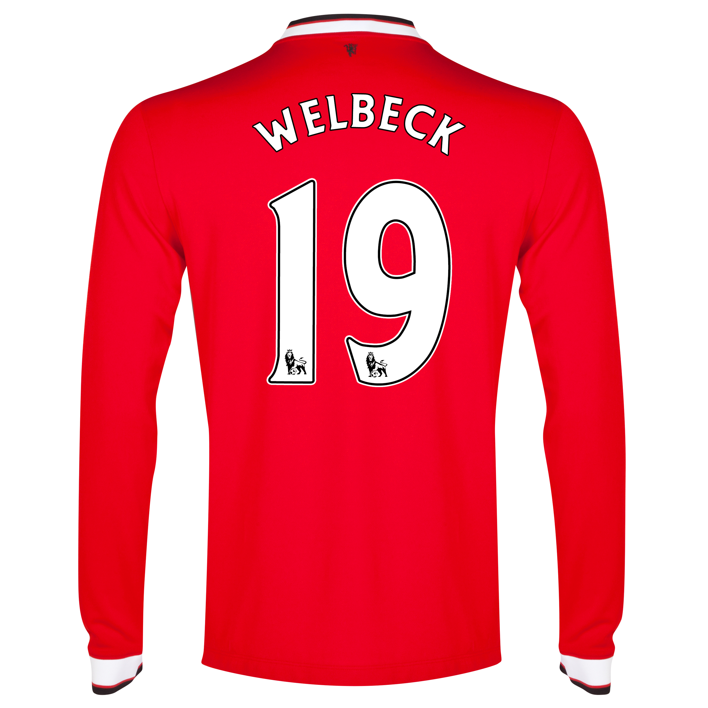 Manchester United Home Shirt 2014/15 - Long Sleeve Red with Welbeck 19 printing