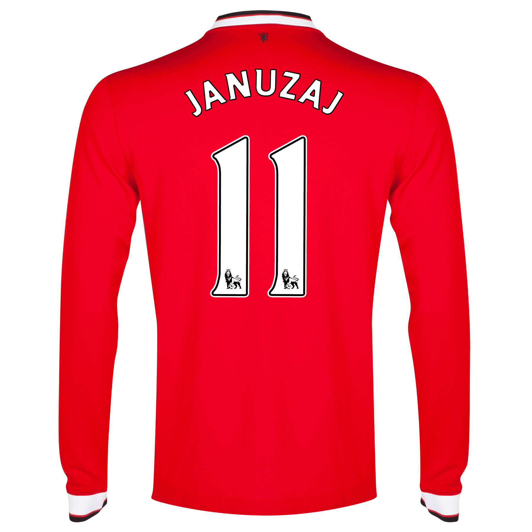 Manchester United Home Shirt 2014/15 - Long Sleeve Red with Januzaj 11 printing