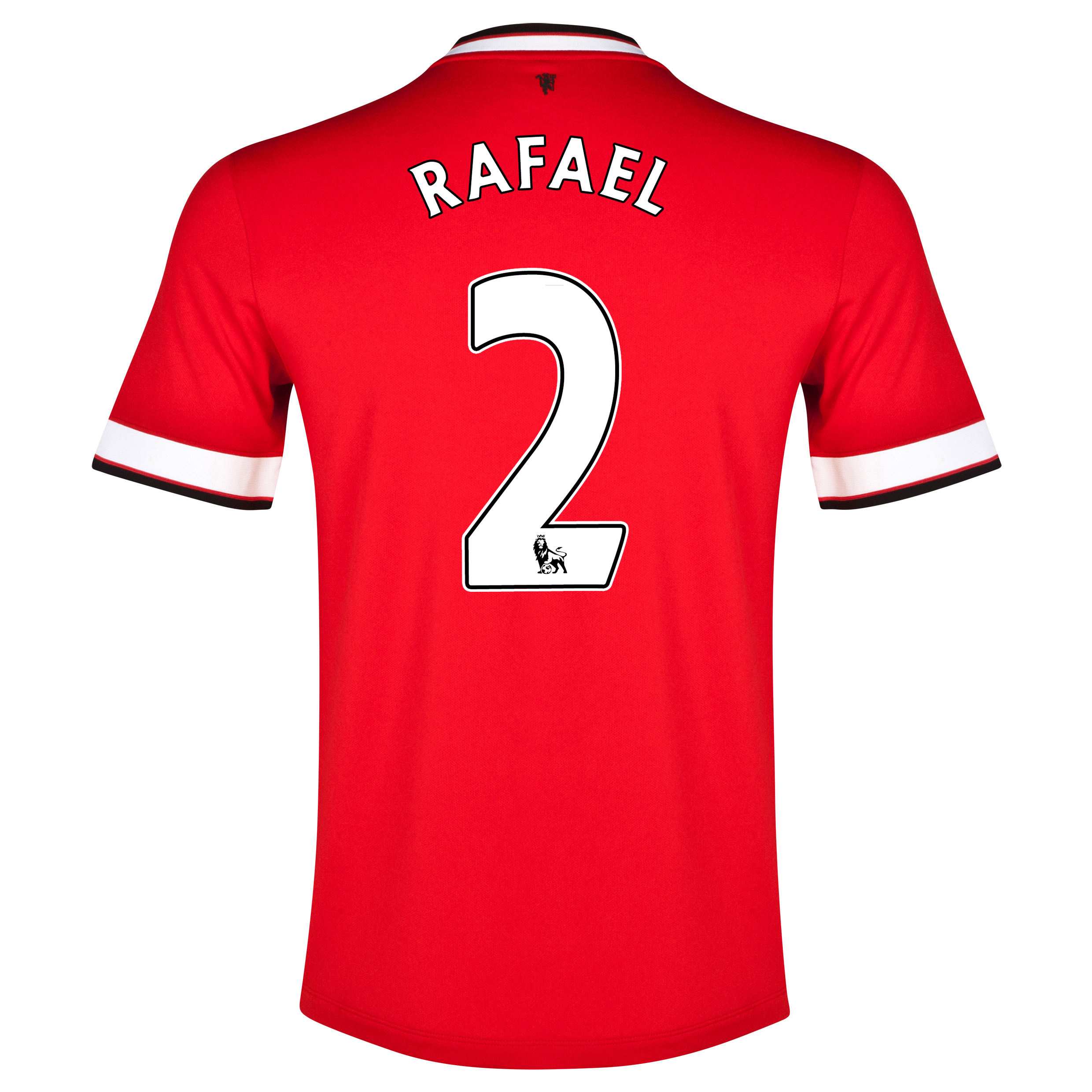Manchester United Home Shirt 2014/15 - Kids Red with Rafael 2 printing