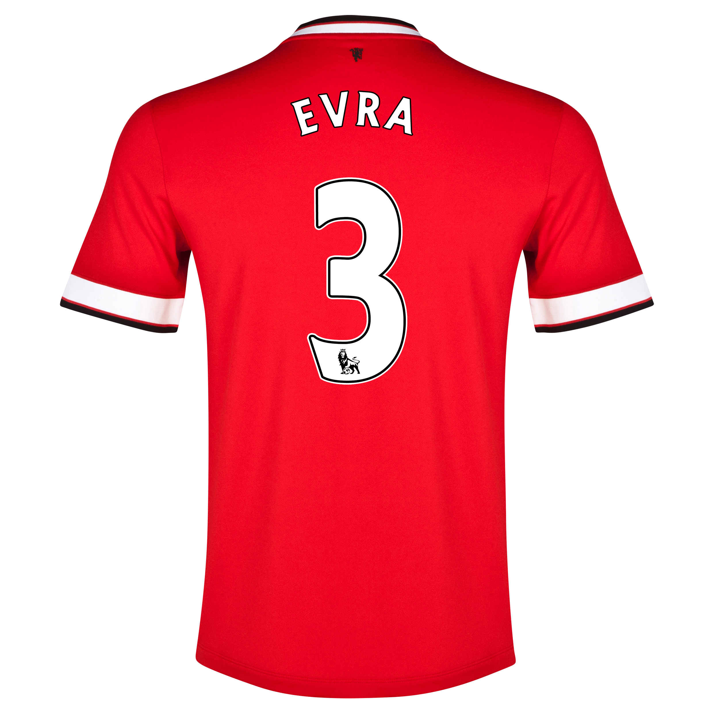 Manchester United Home Shirt 2014/15 - Kids Red with Evra 3 printing