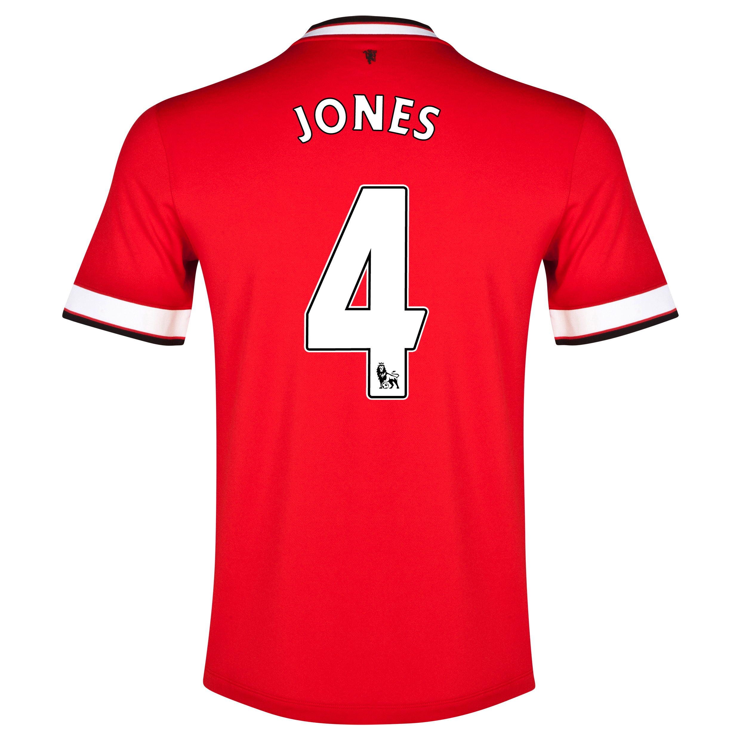 Manchester United Home Shirt 2014/15 - Kids Red with Jones 4 printing
