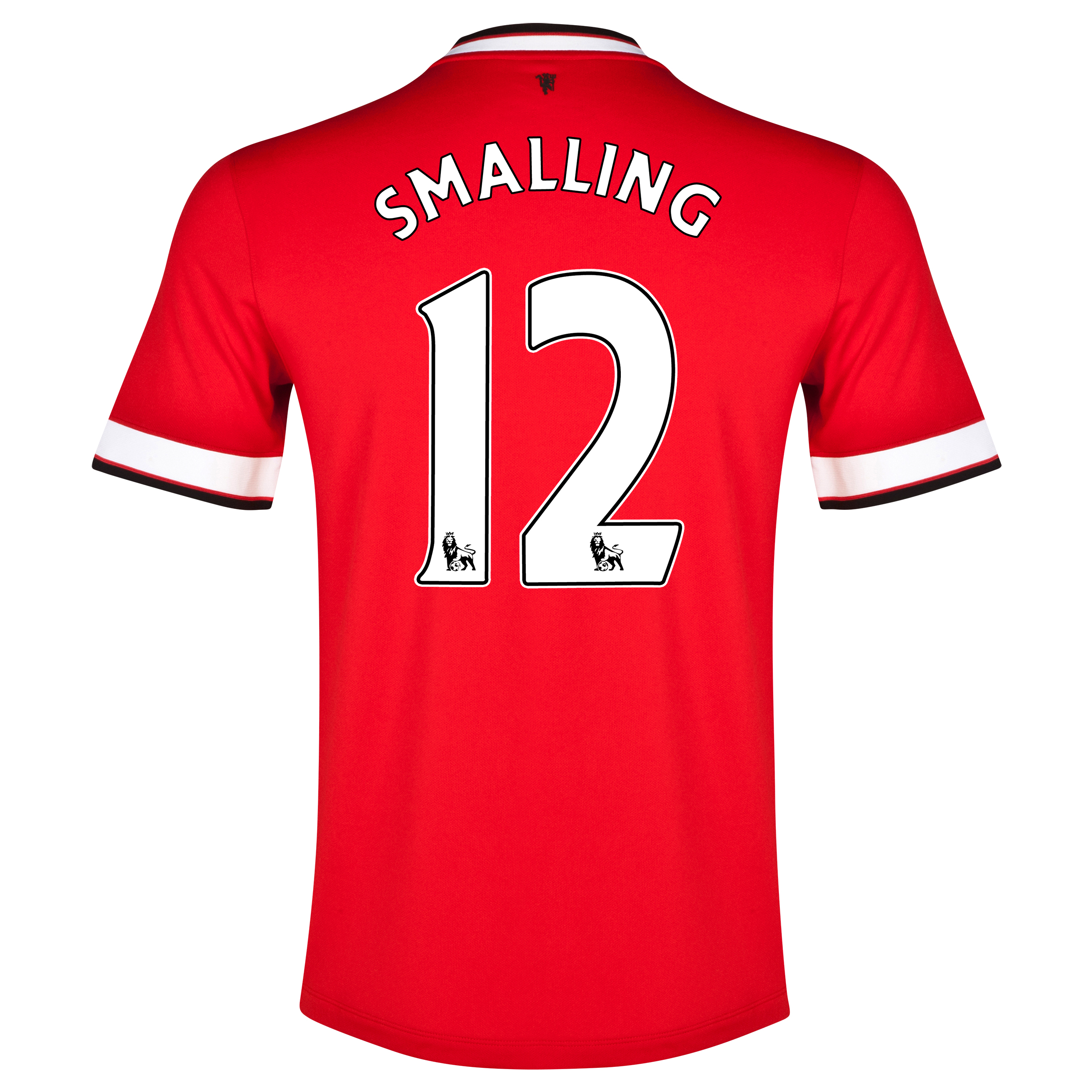 Manchester United Home Shirt 2014/15 - Kids Red with Smalling 12 printing