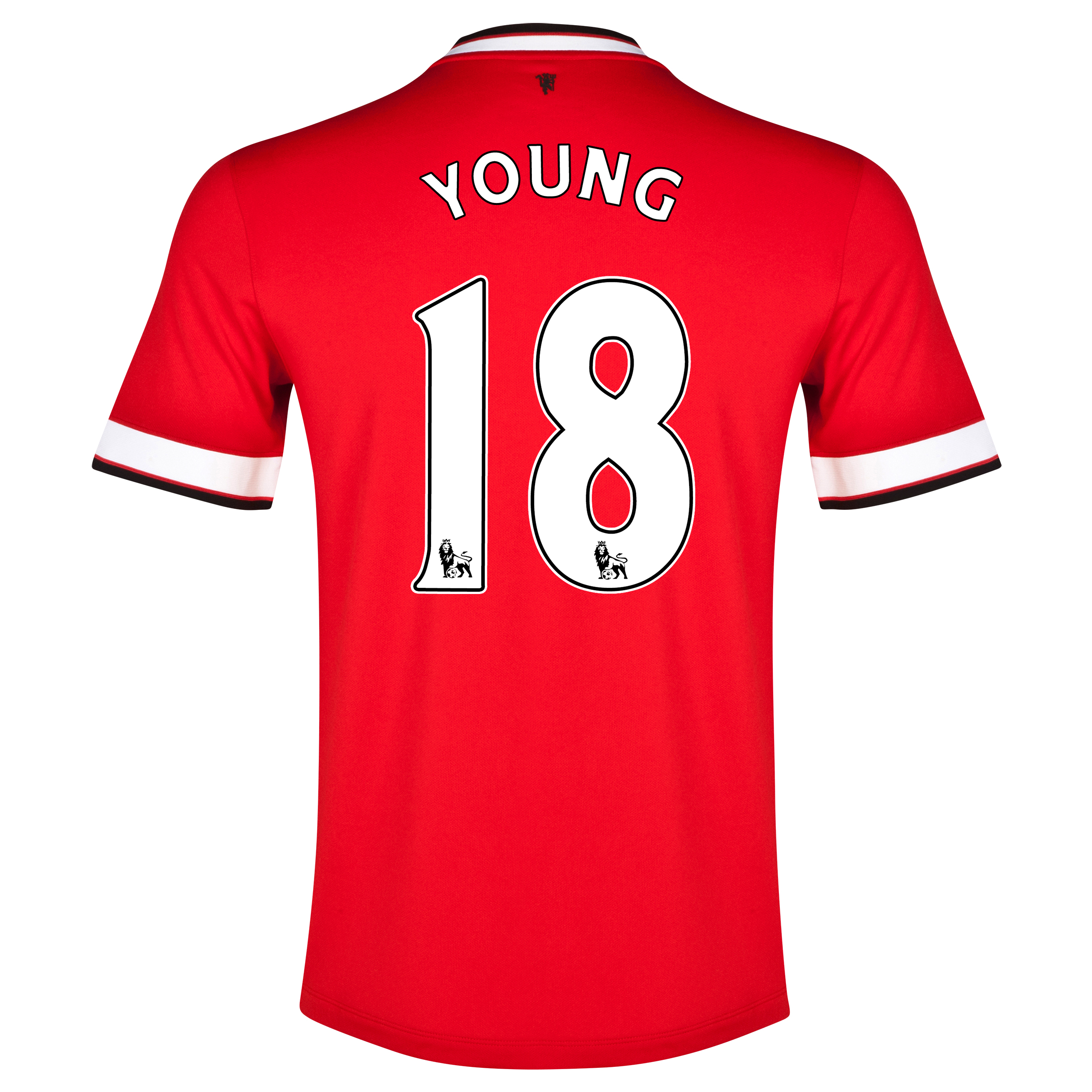 Manchester United Home Shirt 2014/15 - Kids Red with Young 18 printing