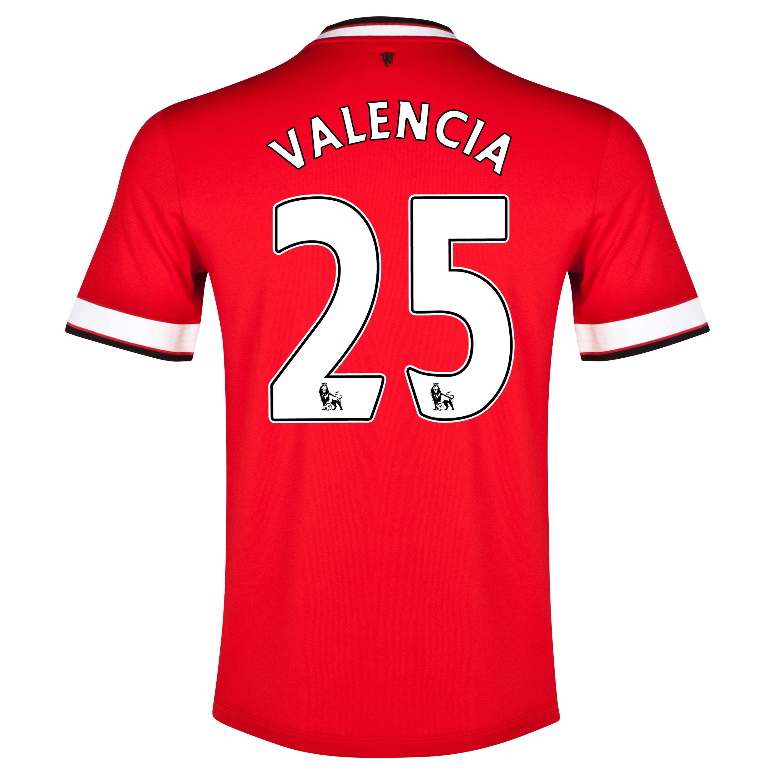 Manchester United Home Shirt 2014/15 - Kids Red with Valencia 25 printing