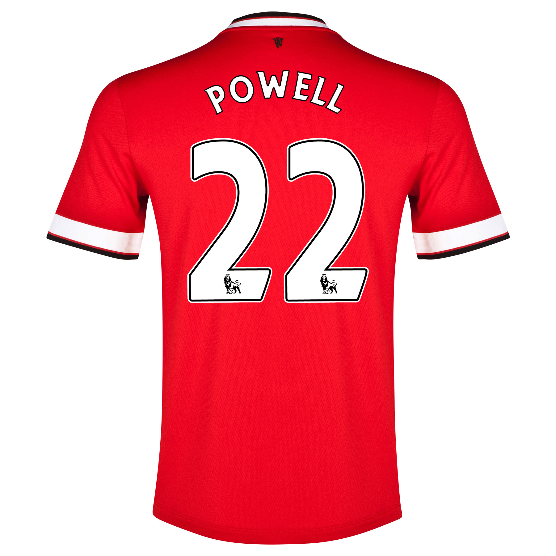 Manchester United Home Shirt 2014/15 - Kids Red with Powell 22 printing