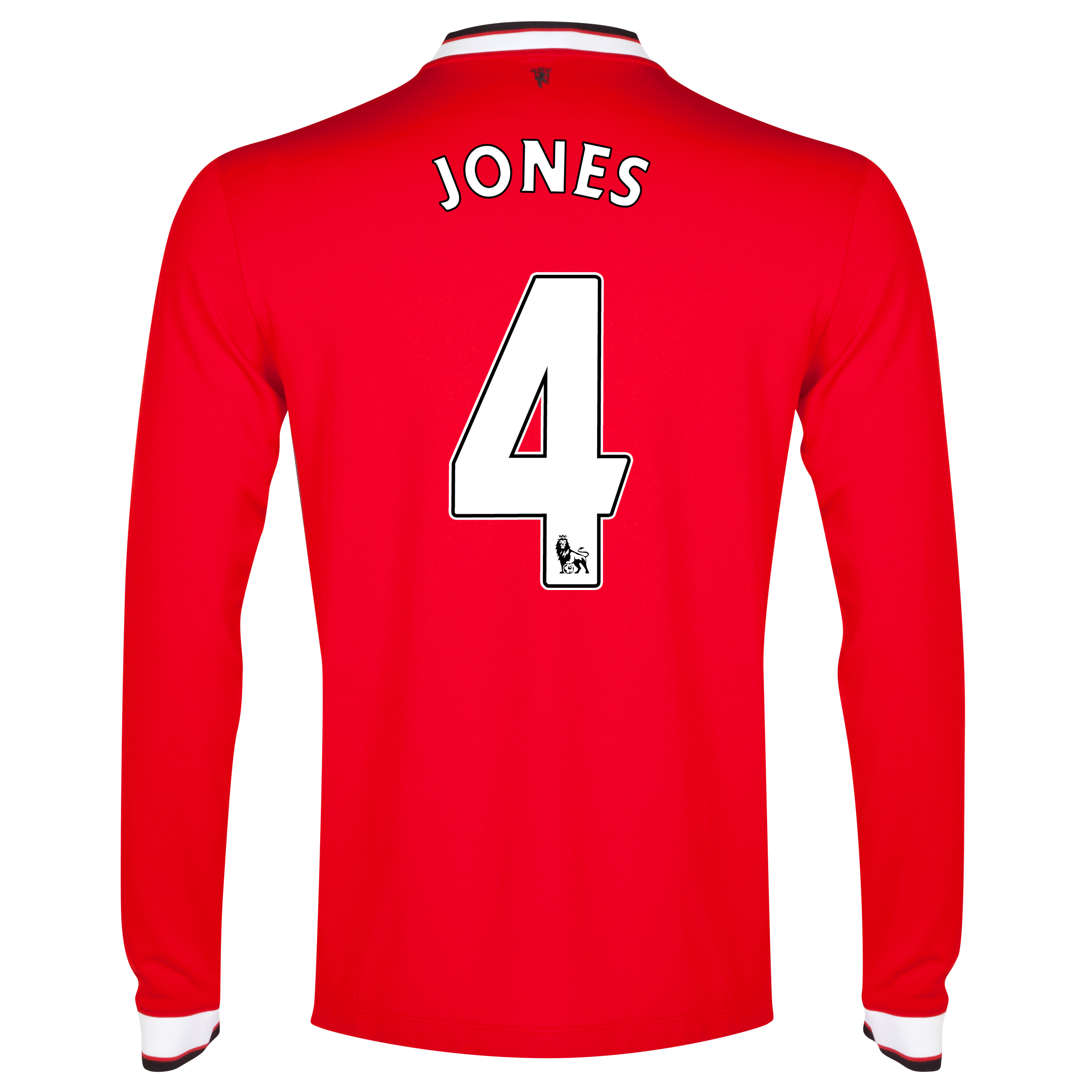 Manchester United Home Shirt 2014/15 - Long Sleeve - Kids Red with Jones 4 printing