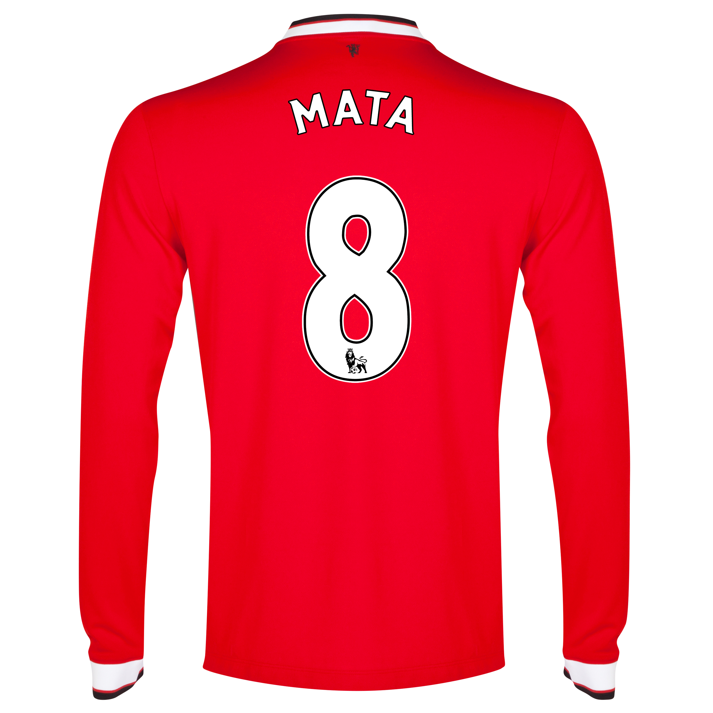 Manchester United Home Shirt 2014/15 - Long Sleeve - Kids Red with Mata 8 printing