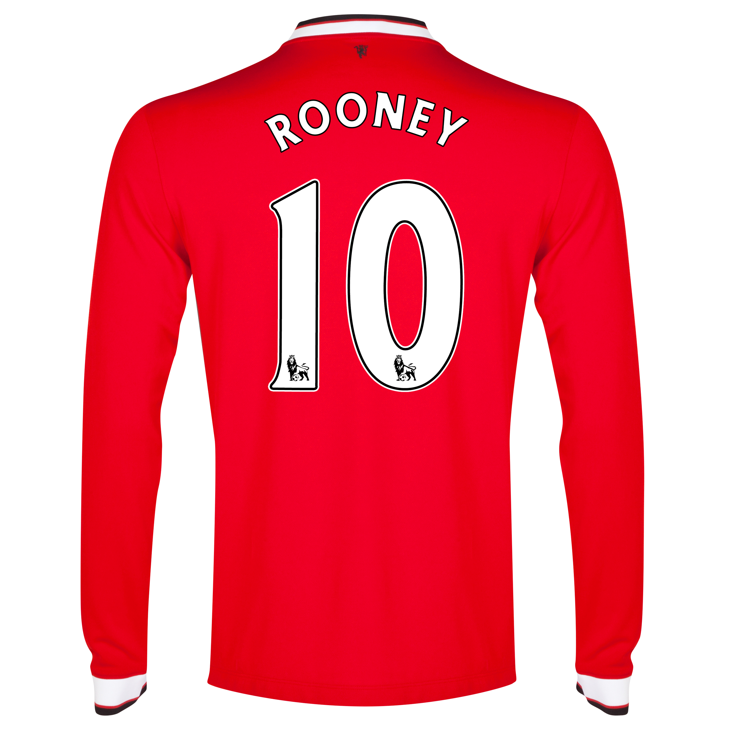 Manchester United Home Shirt 2014/15 - Long Sleeve - Kids Red with Rooney 10 printing