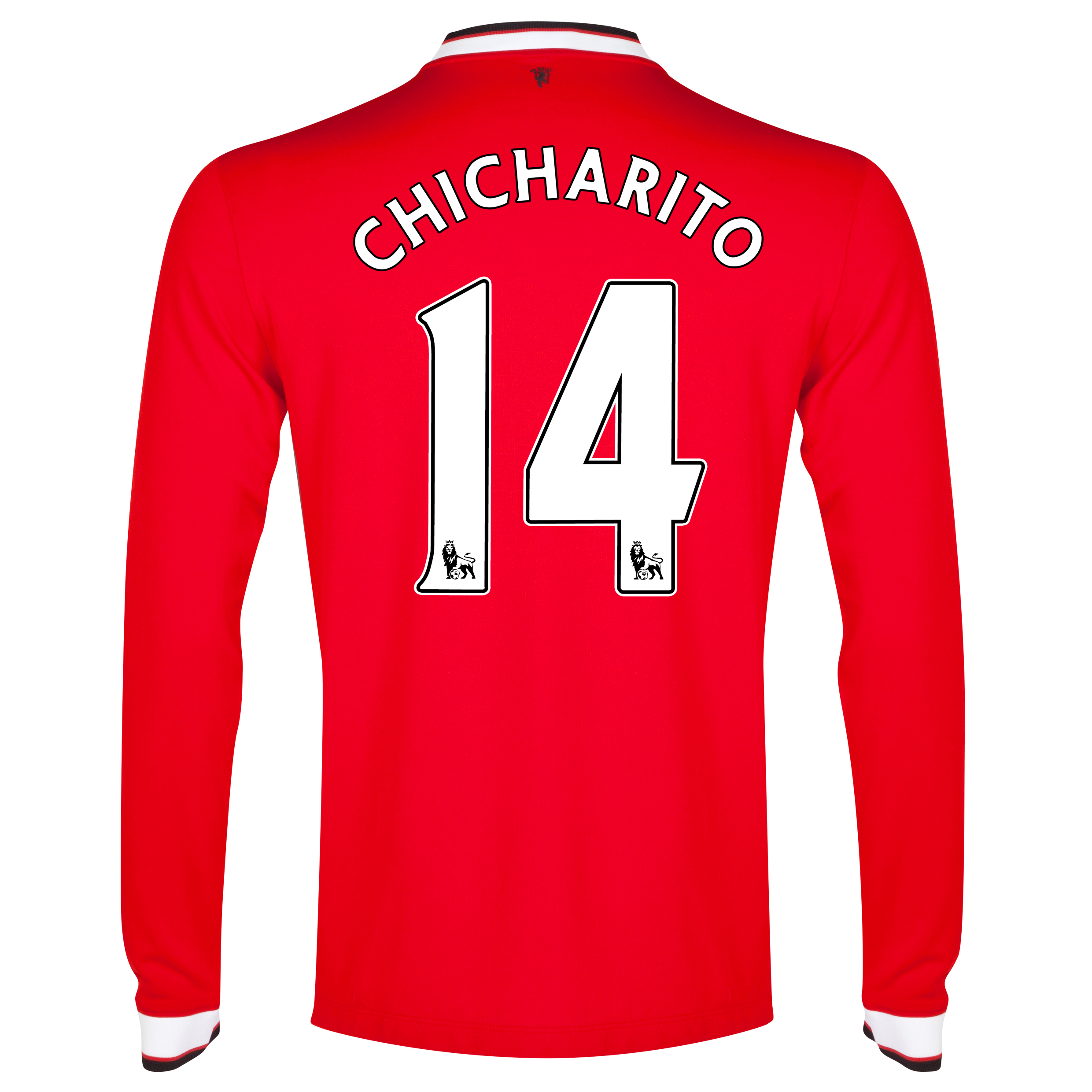 Manchester United Home Shirt 2014/15 - Long Sleeve - Kids Red with Chicharito 14 printing