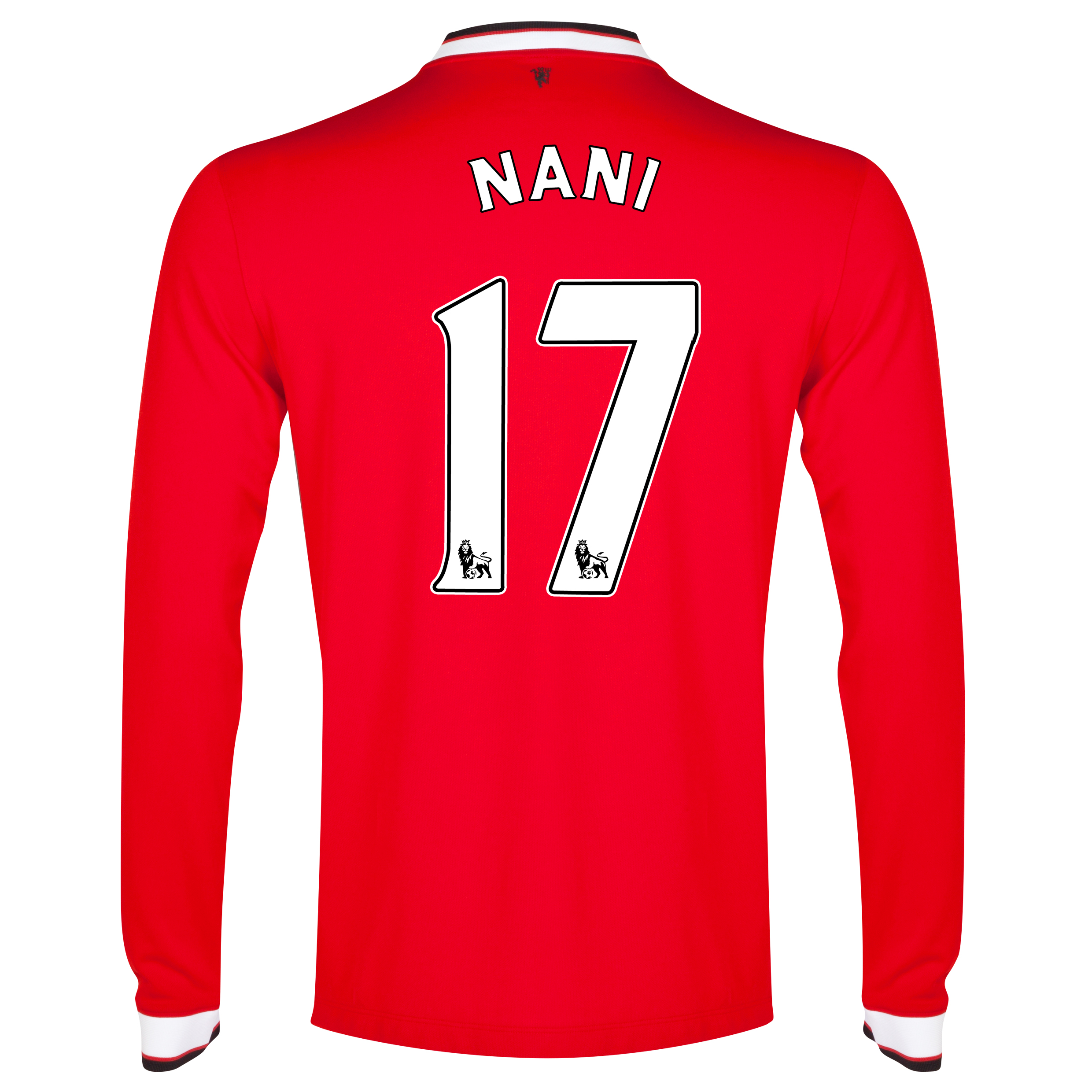 Manchester United Home Shirt 2014/15 - Long Sleeve - Kids Red with Nani 17 printing