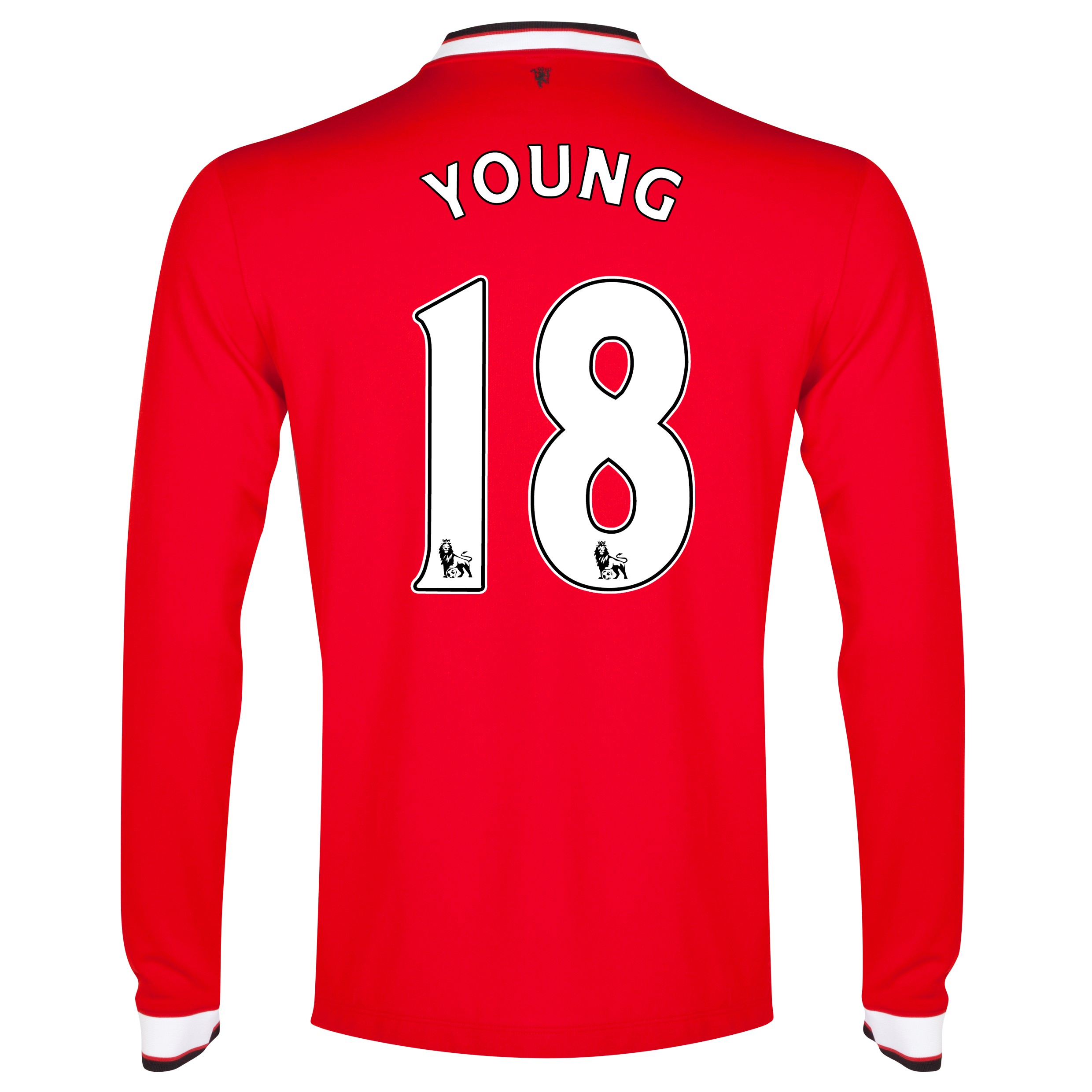 Manchester United Home Shirt 2014/15 - Long Sleeve - Kids Red with Young 18 printing