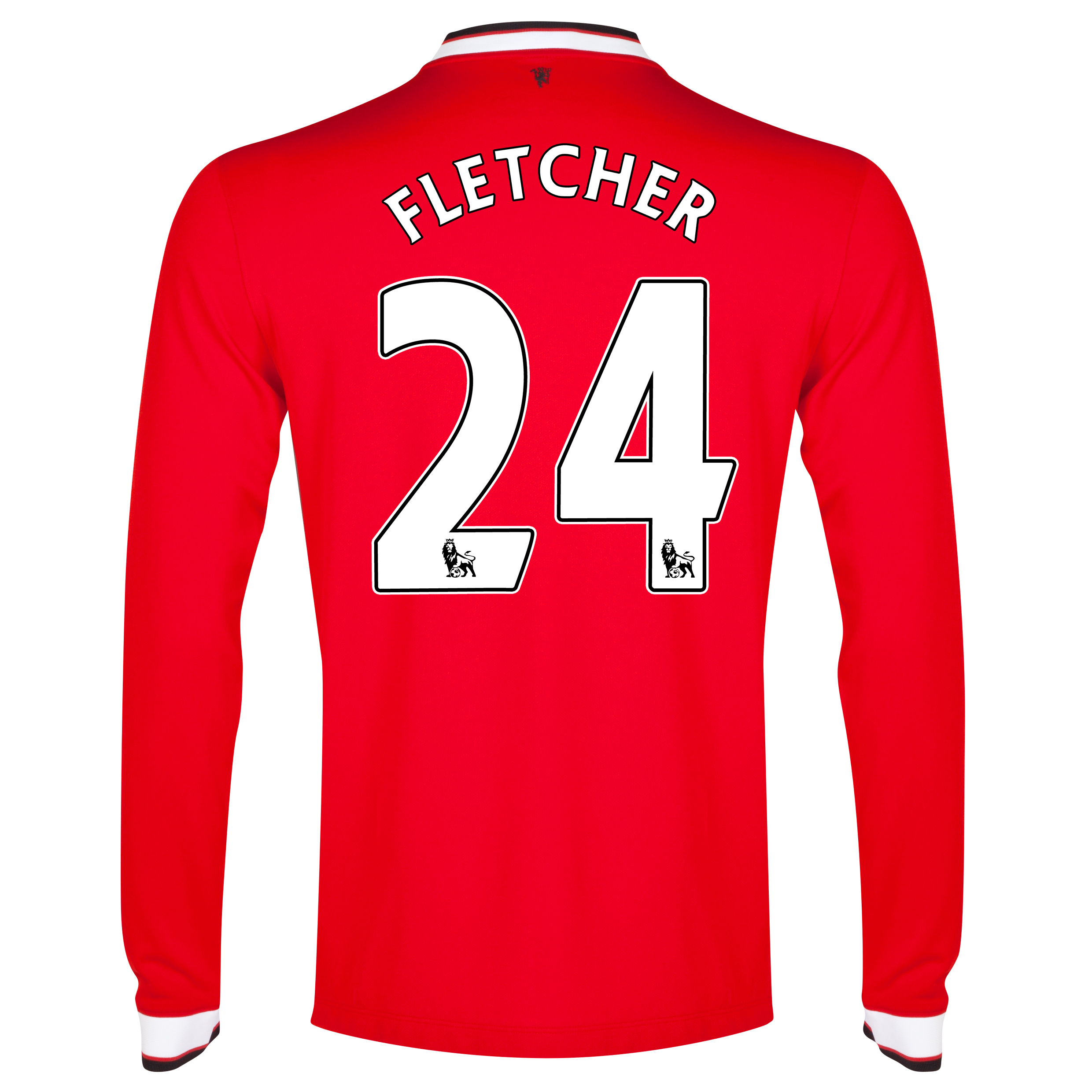 Manchester United Home Shirt 2014/15 - Long Sleeve - Kids Red with Fletcher 24 printing