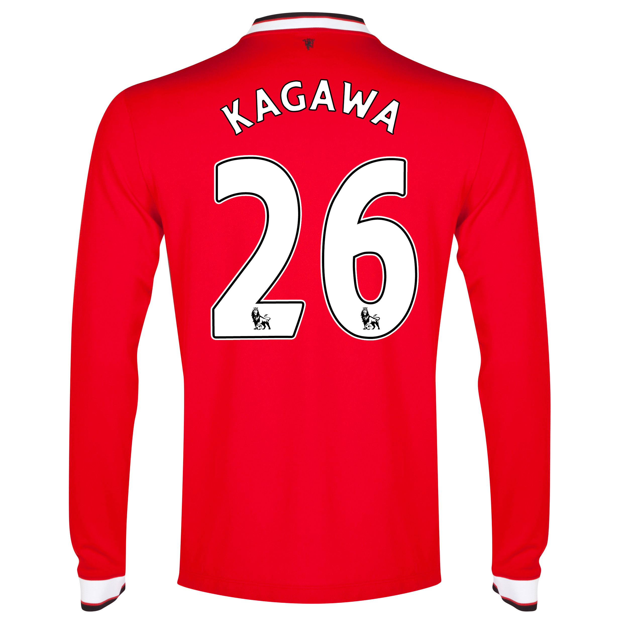 Manchester United Home Shirt 2014/15 - Long Sleeve - Kids Red with Kagawa 26 printing