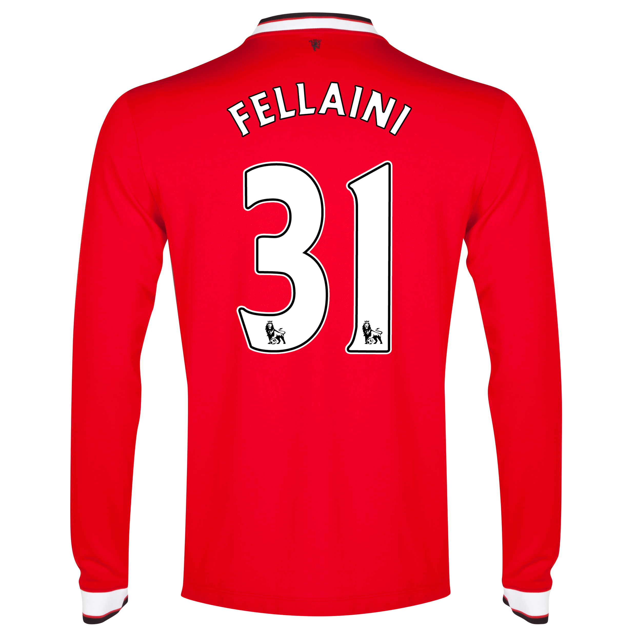 Manchester United Home Shirt 2014/15 - Long Sleeve - Kids Red with Fellaini 31 printing