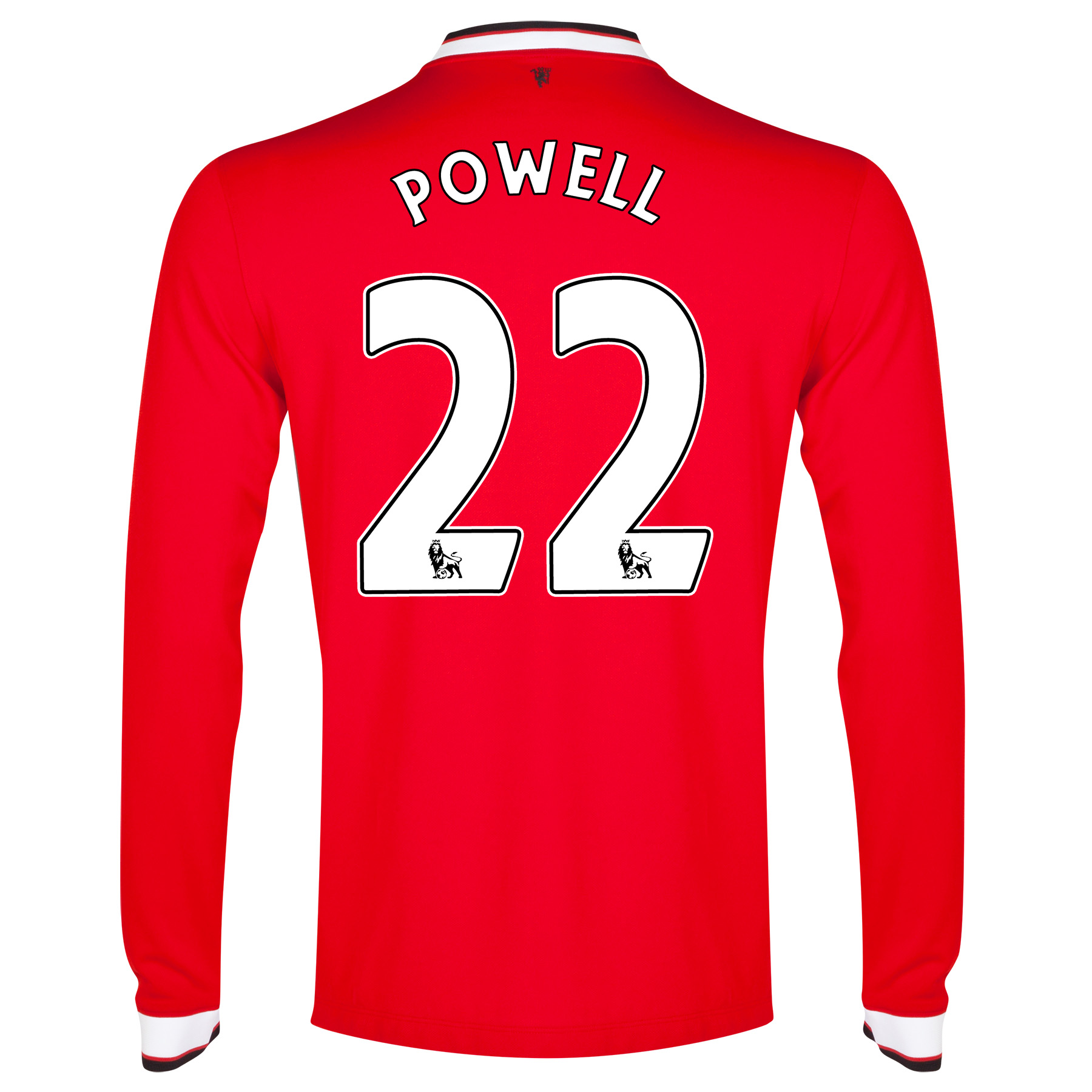 Manchester United Home Shirt 2014/15 - Long Sleeve - Kids Red with Powell 22 printing
