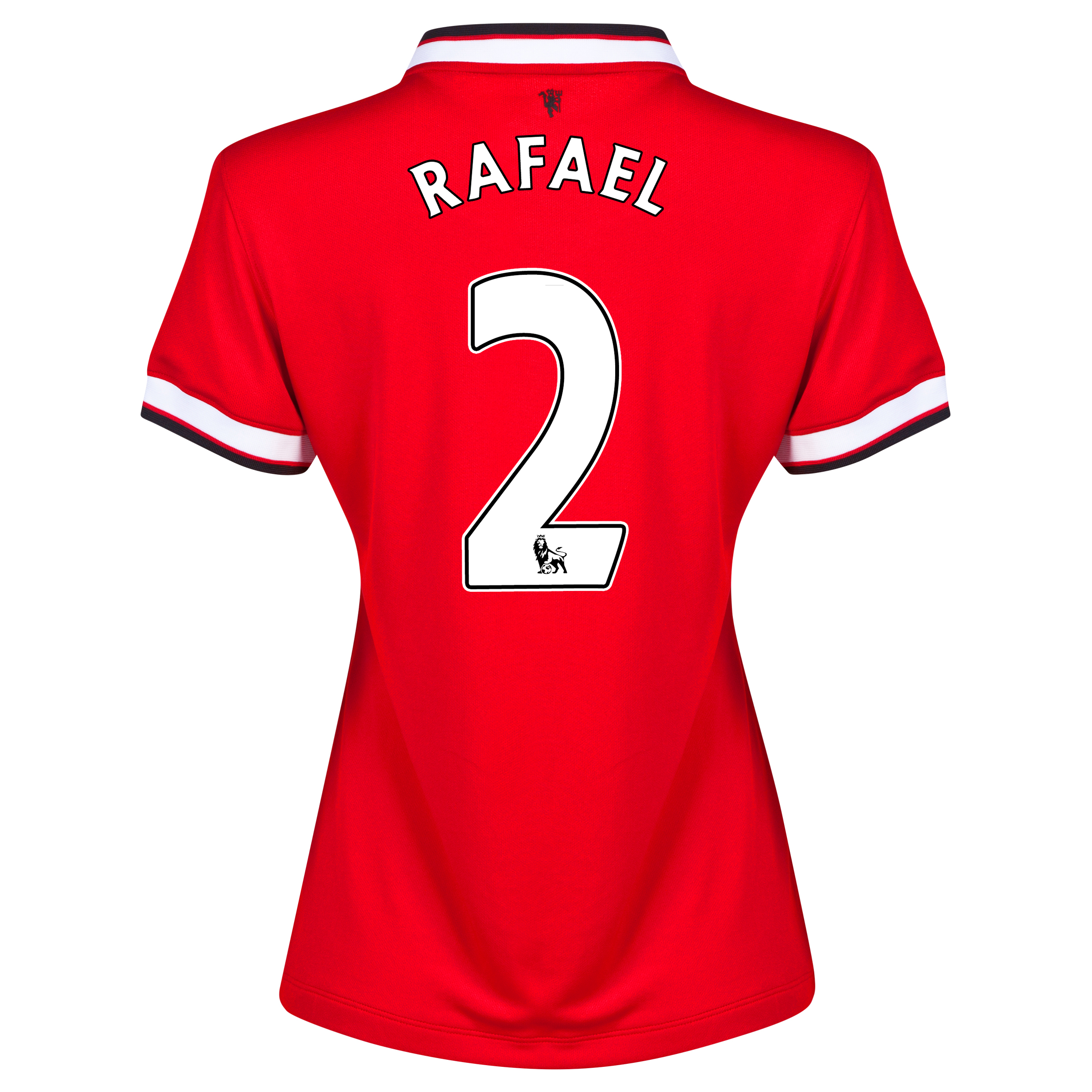 Manchester United Home Shirt 2014/15 - Womens Red with Rafael 2 printing
