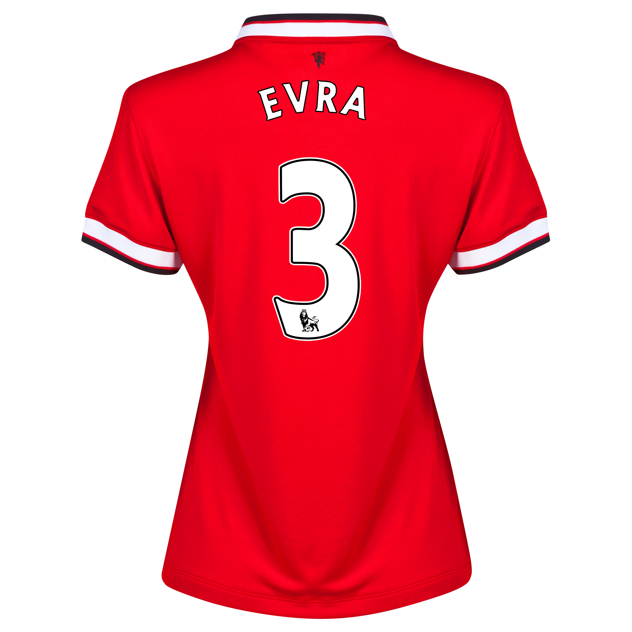 Manchester United Home Shirt 2014/15 - Womens Red with Evra 3 printing
