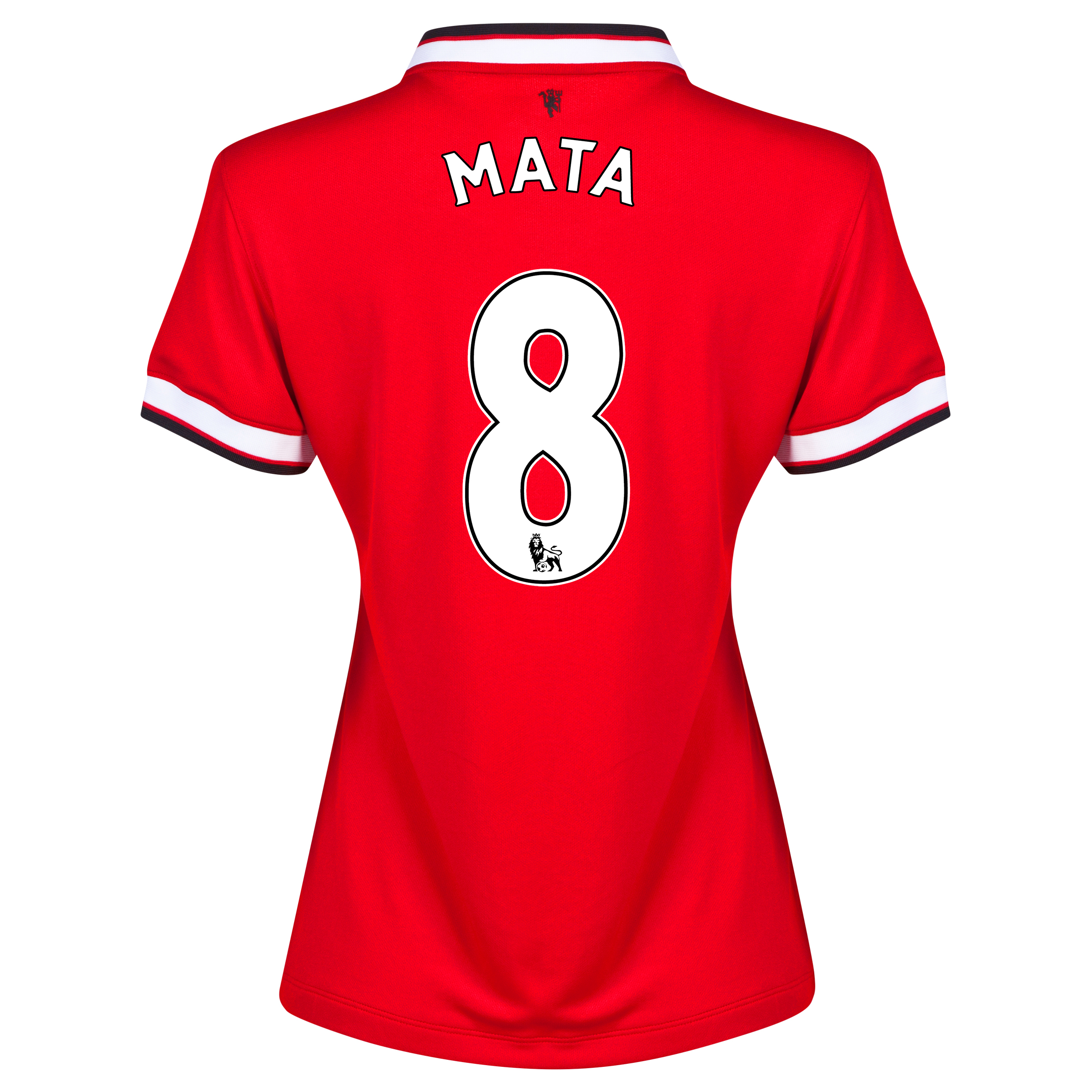 Manchester United Home Shirt 2014/15 - Womens Red with Mata 8 printing