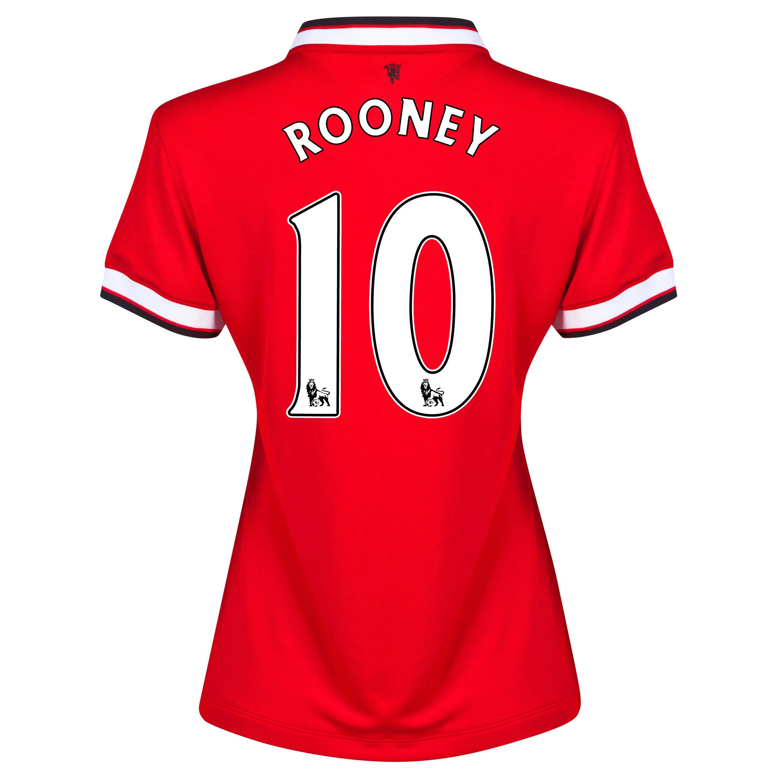 Manchester United Home Shirt 2014/15 - Womens Red with Rooney 10 printing
