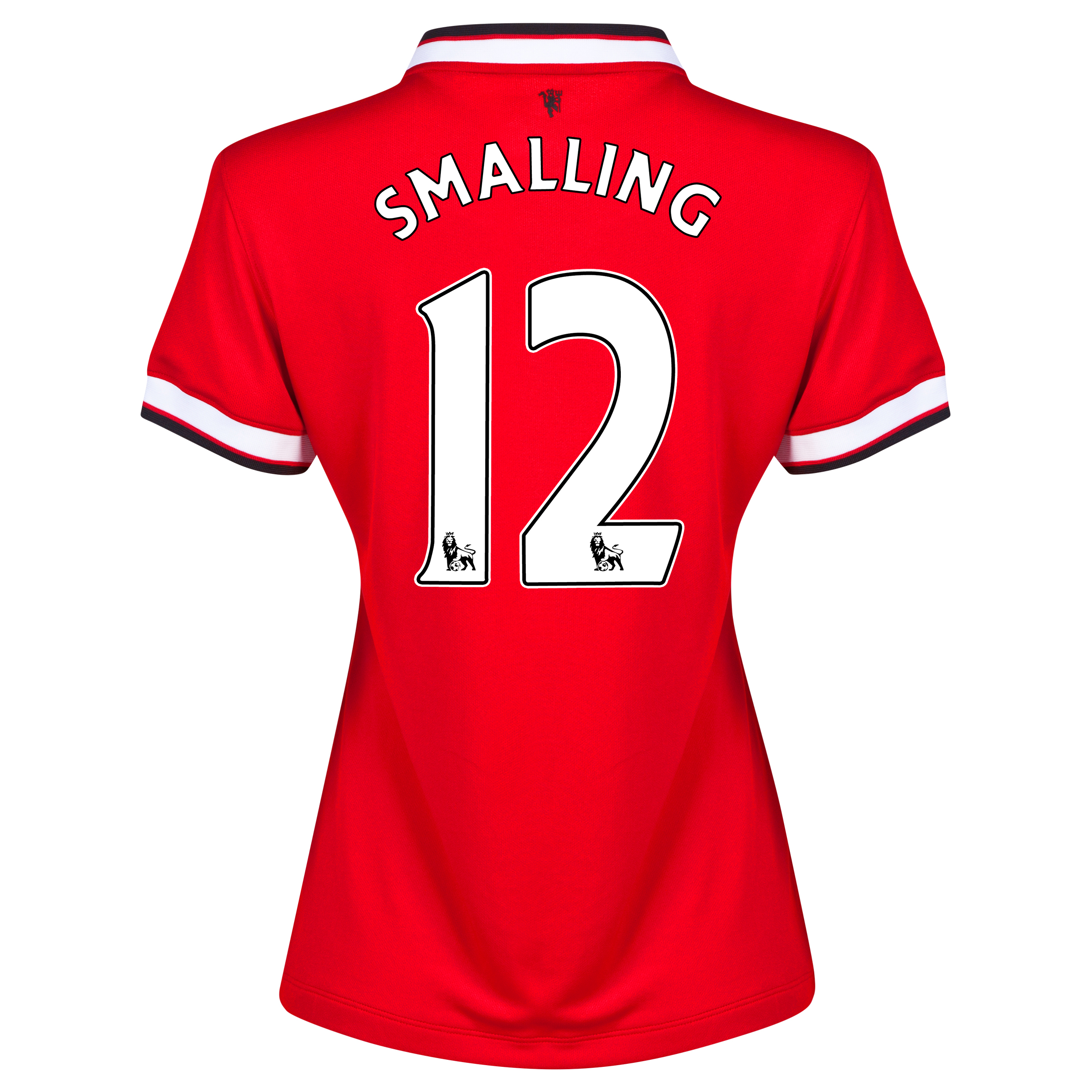 Manchester United Home Shirt 2014/15 - Womens Red with Smalling 12 printing