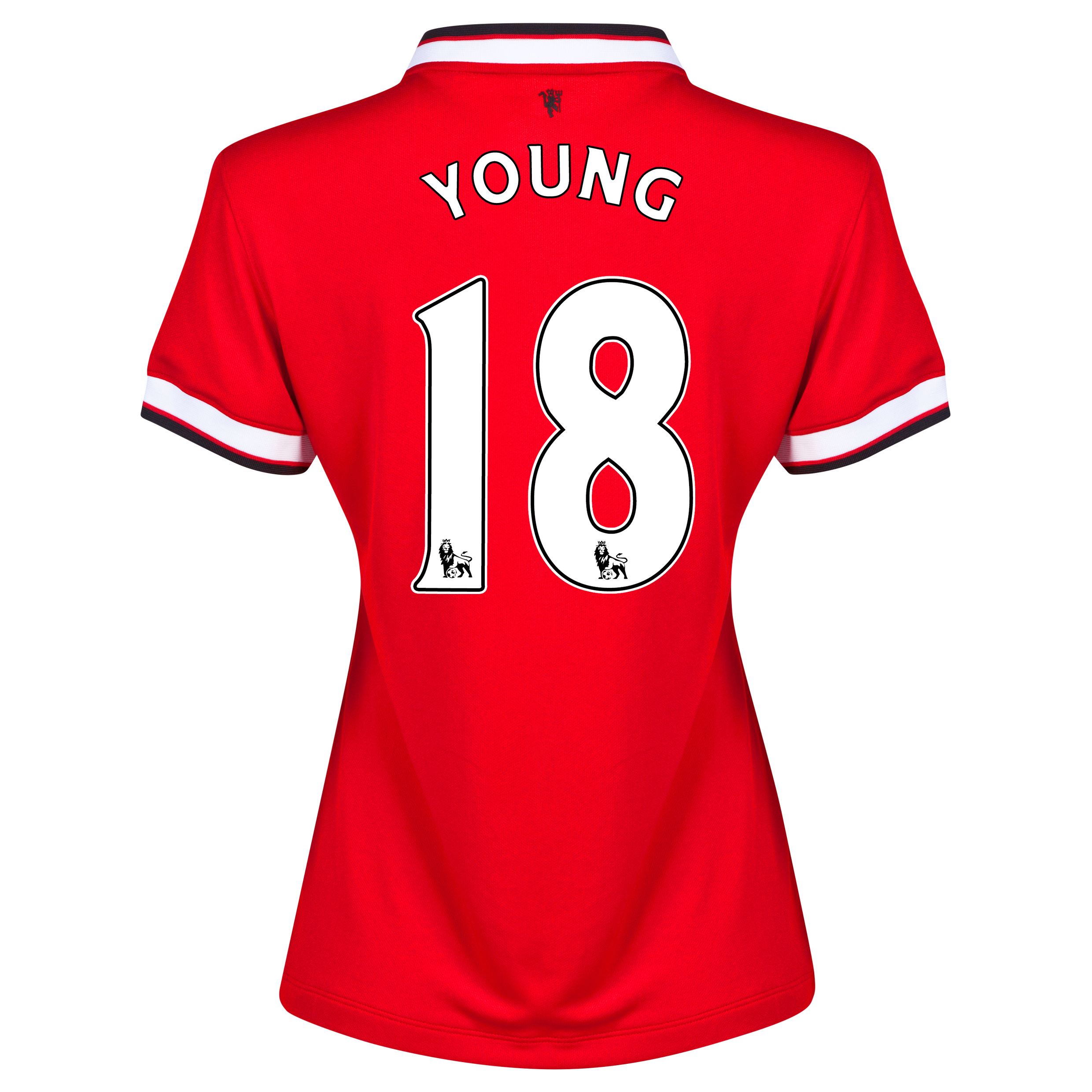 Manchester United Home Shirt 2014/15 - Womens Red with Young 18 printing