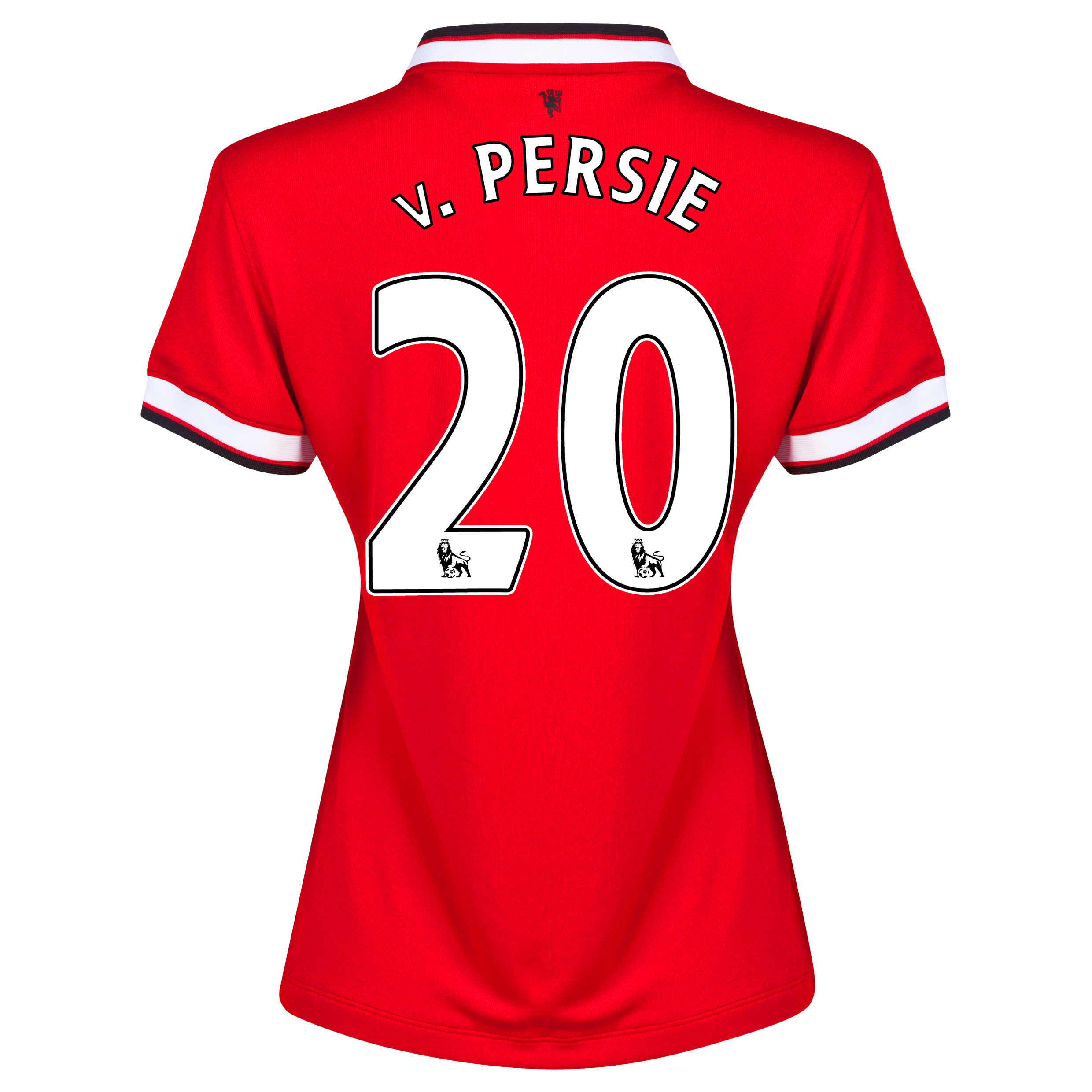 Manchester United Home Shirt 2014/15 - Womens Red with v.Persie 20 printing