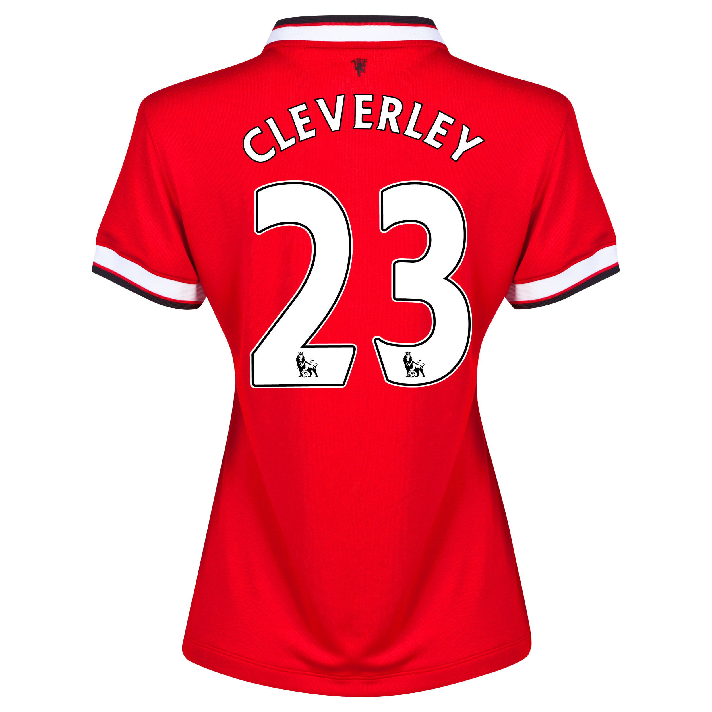Manchester United Home Shirt 2014/15 - Womens Red with Cleverley 23 printing