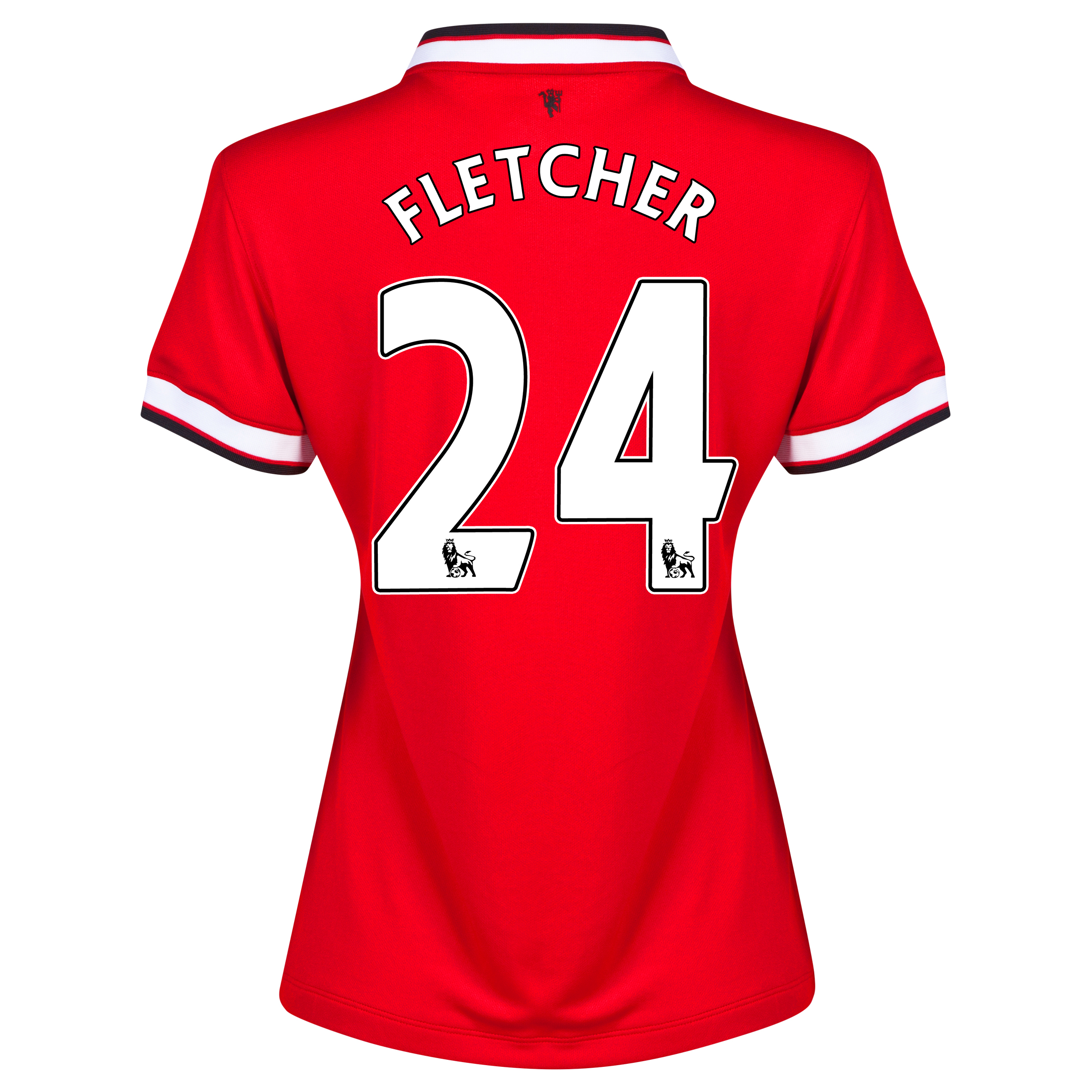 Manchester United Home Shirt 2014/15 - Womens Red with Fletcher 24 printing