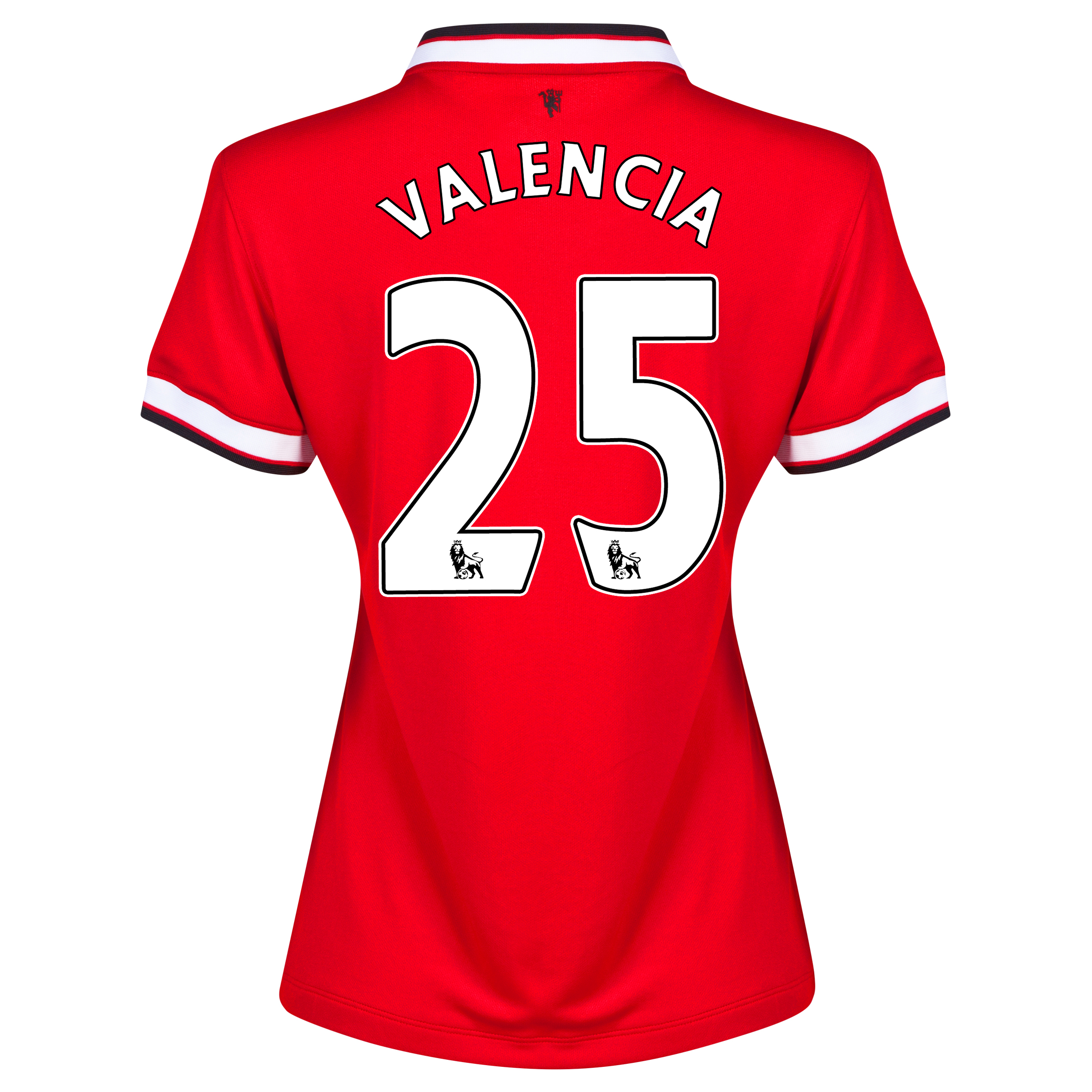 Manchester United Home Shirt 2014/15 - Womens Red with Valencia 25 printing