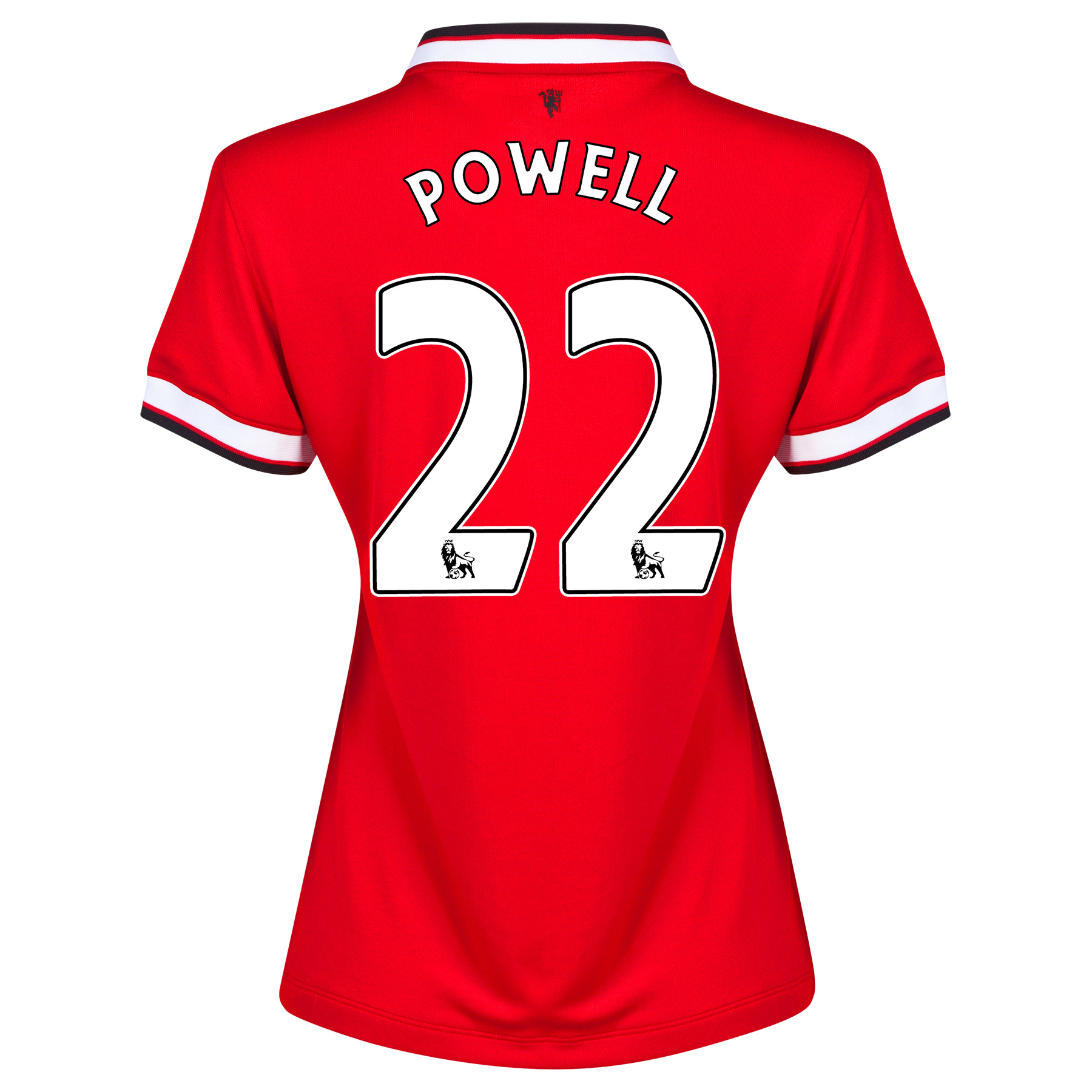 Manchester United Home Shirt 2014/15 - Womens Red with Powell 22 printing