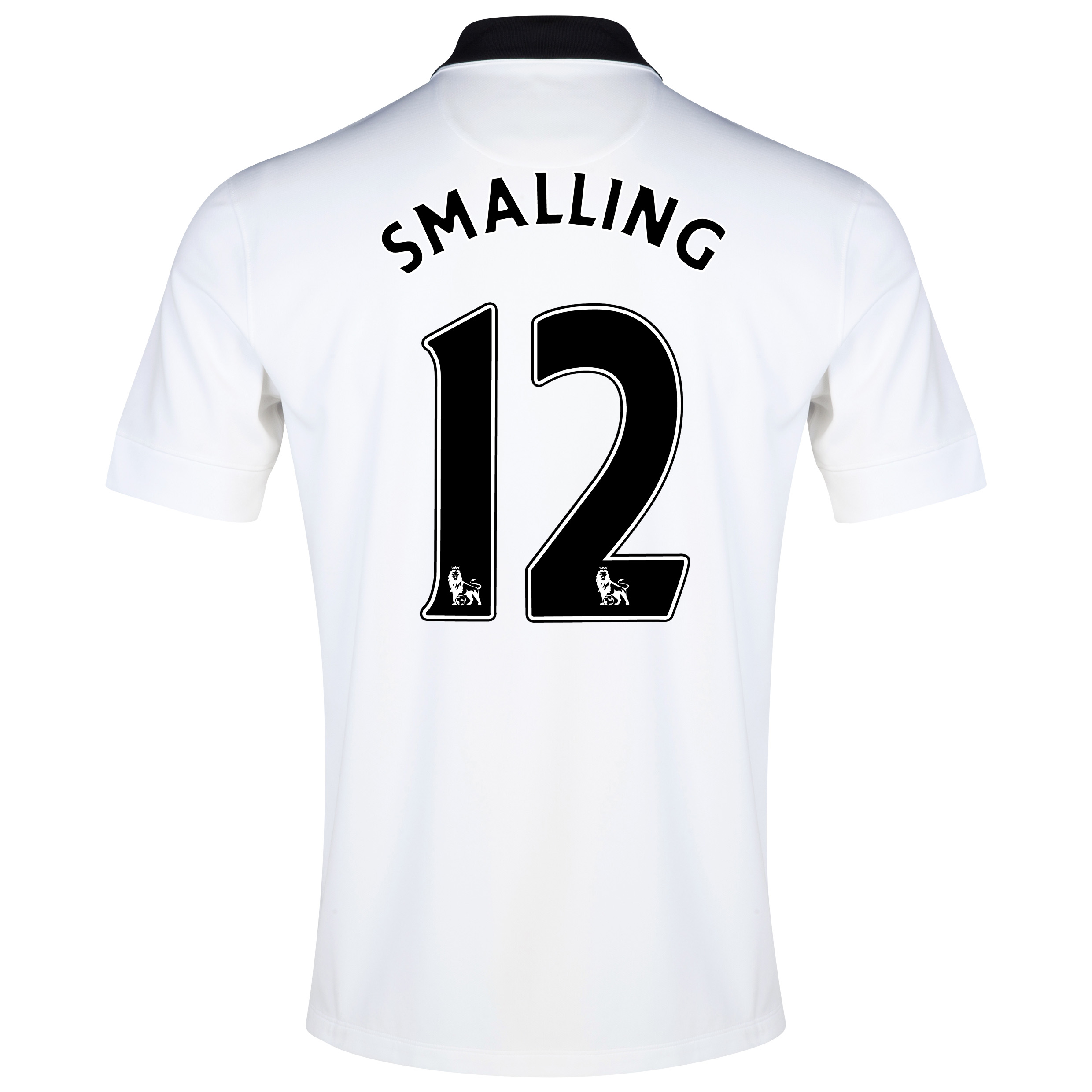 Manchester United Away Shirt 2014/15 White with Smalling 12 printing