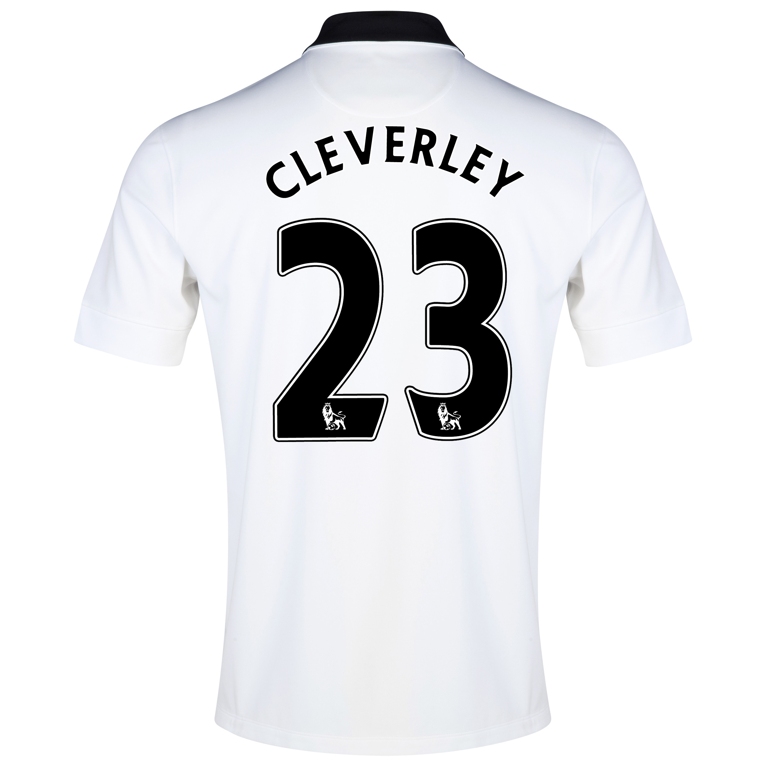 Manchester United Away Shirt 2014/15 White with Cleverley 23 printing