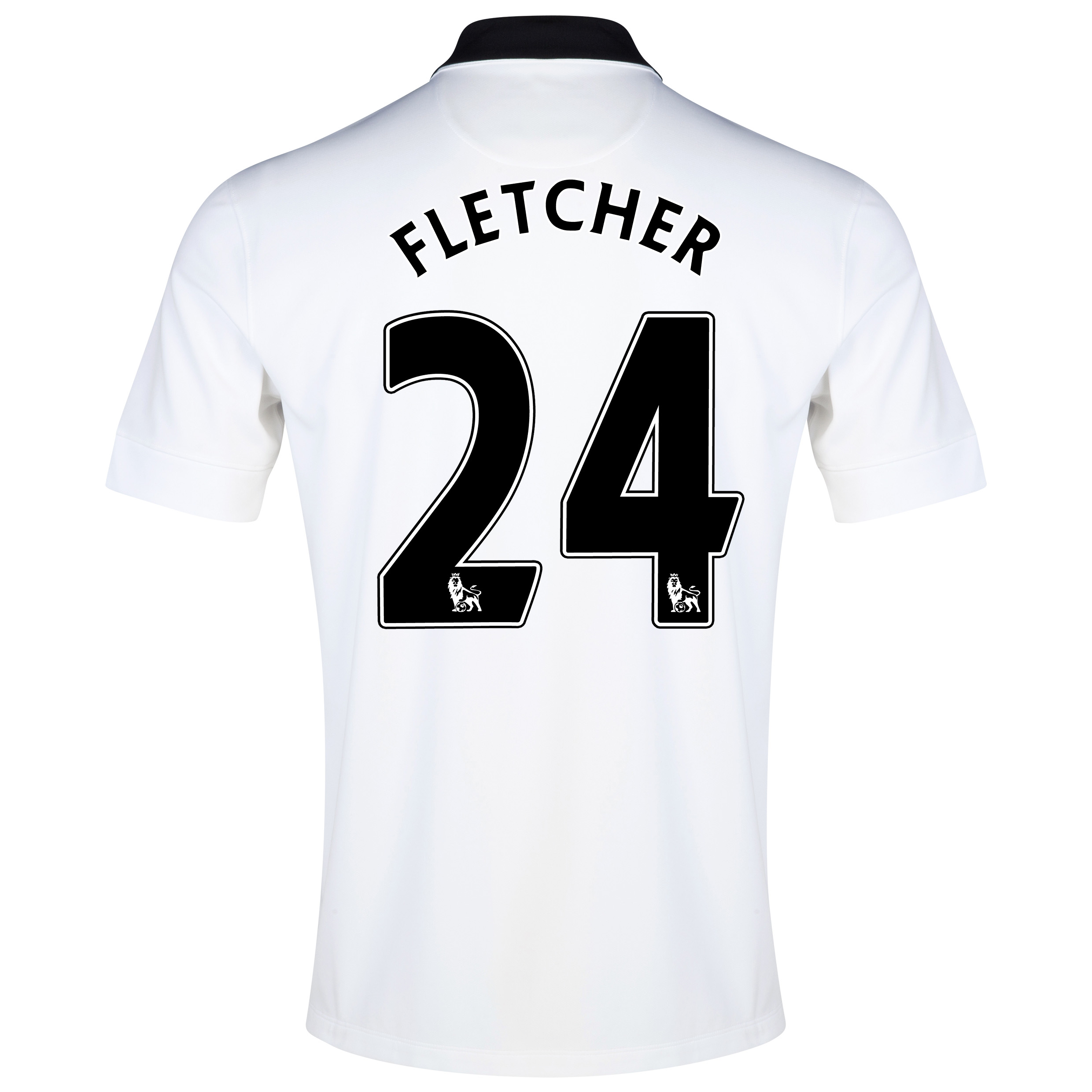 Manchester United Away Shirt 2014/15 White with Fletcher 24 printing