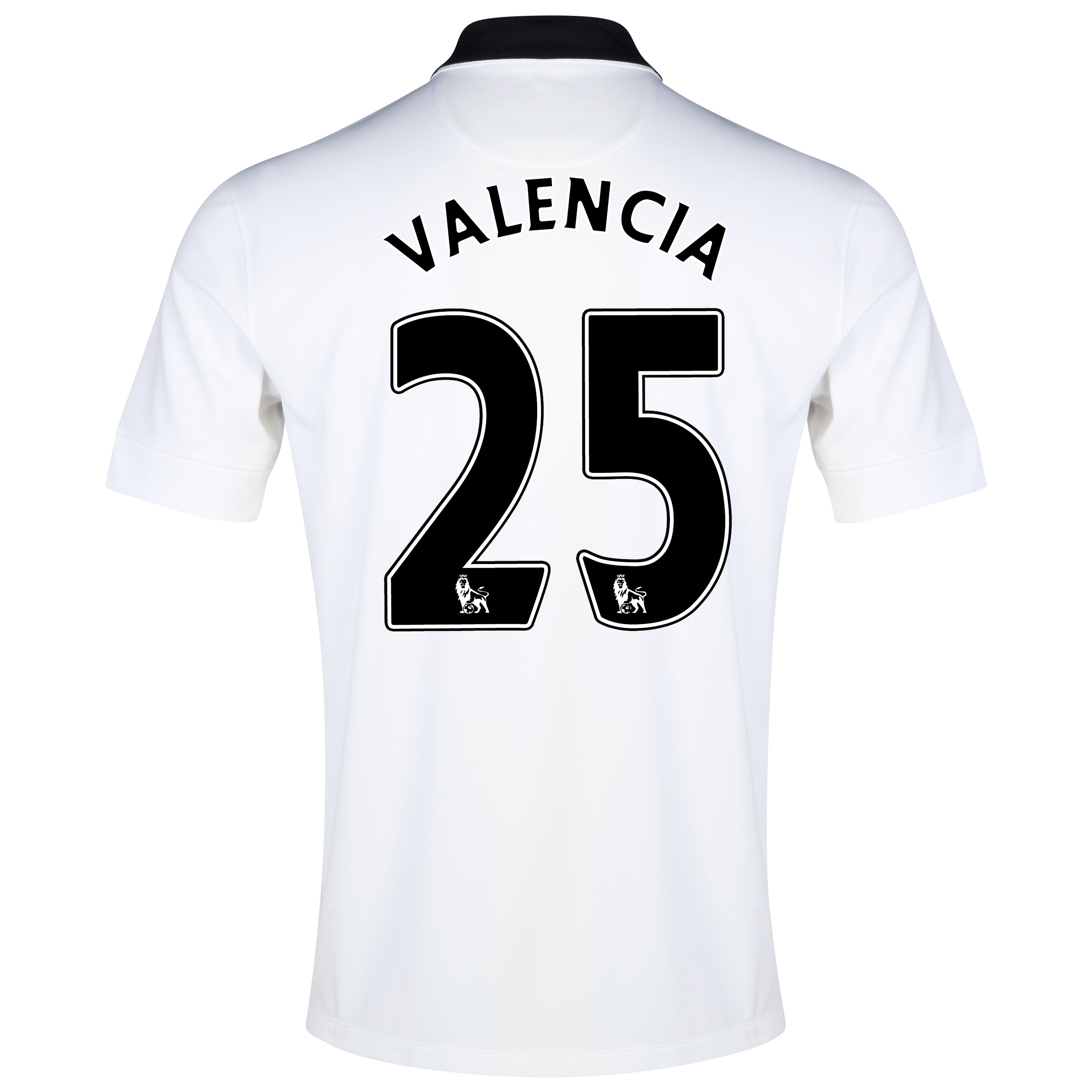 Manchester United Away Shirt 2014/15 White with Valencia 25 printing