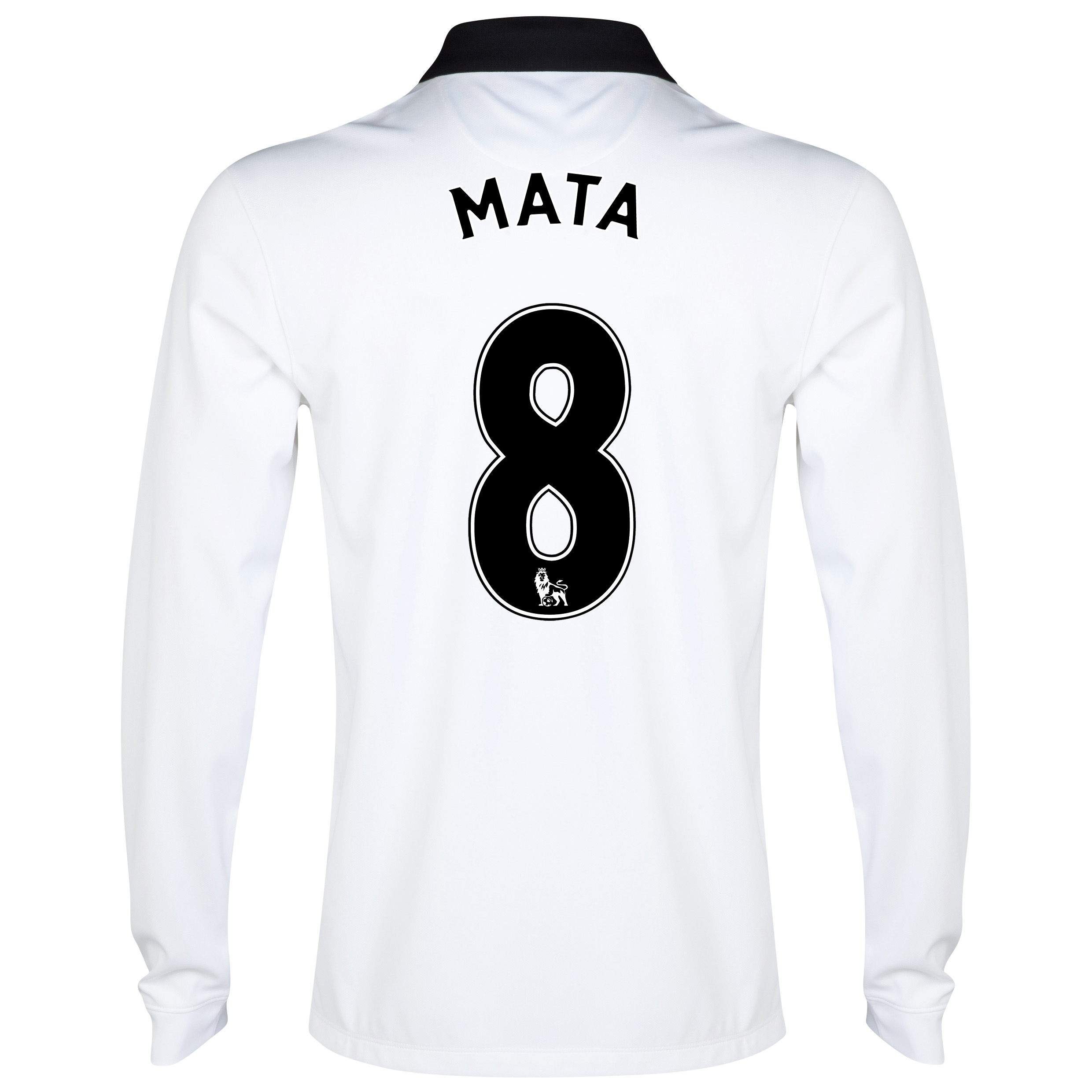 Manchester United Away Shirt 2014/15 - Long Sleeve White with Mata 8 printing