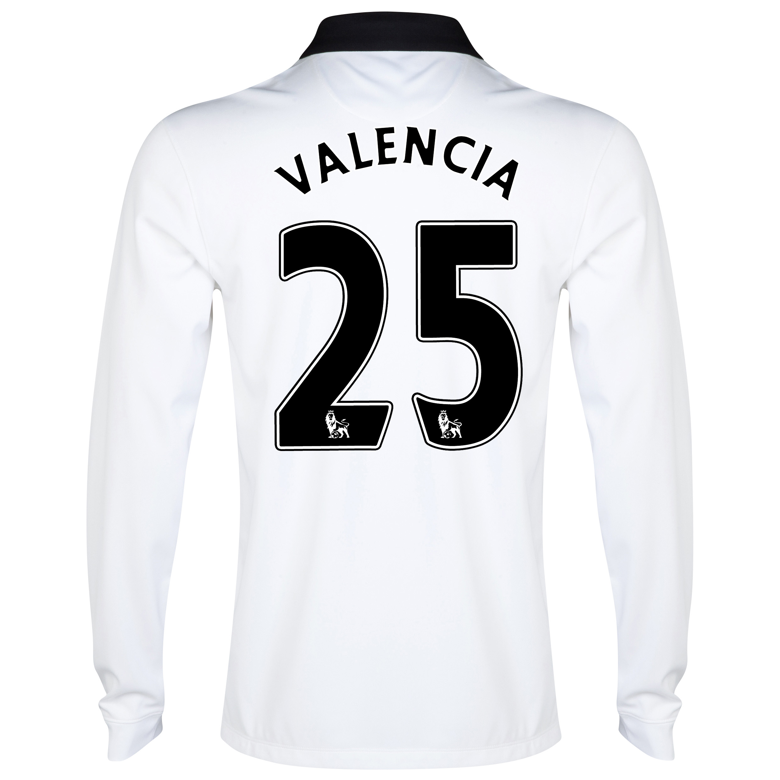 Manchester United Away Shirt 2014/15 - Long Sleeve White with Valencia 25 printing