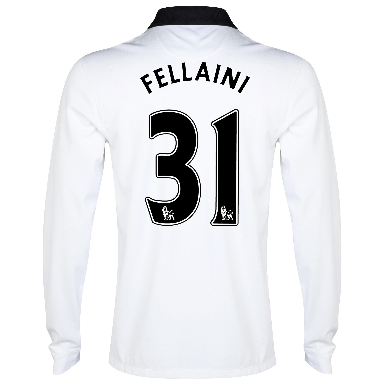 Manchester United Away Shirt 2014/15 - Long Sleeve White with Fellaini 31 printing