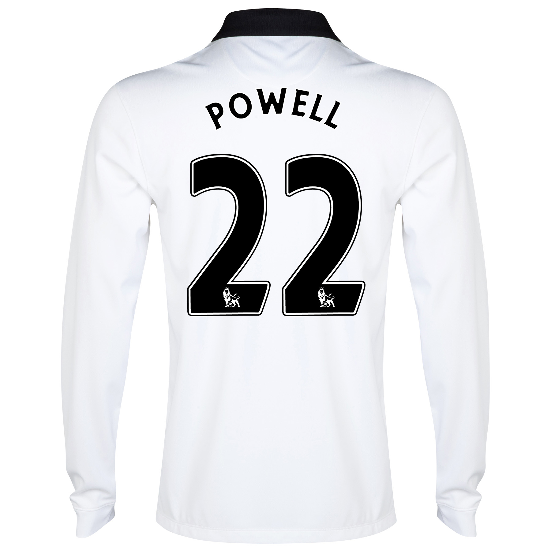 Manchester United Away Shirt 2014/15 - Long Sleeve White with Powell 22 printing