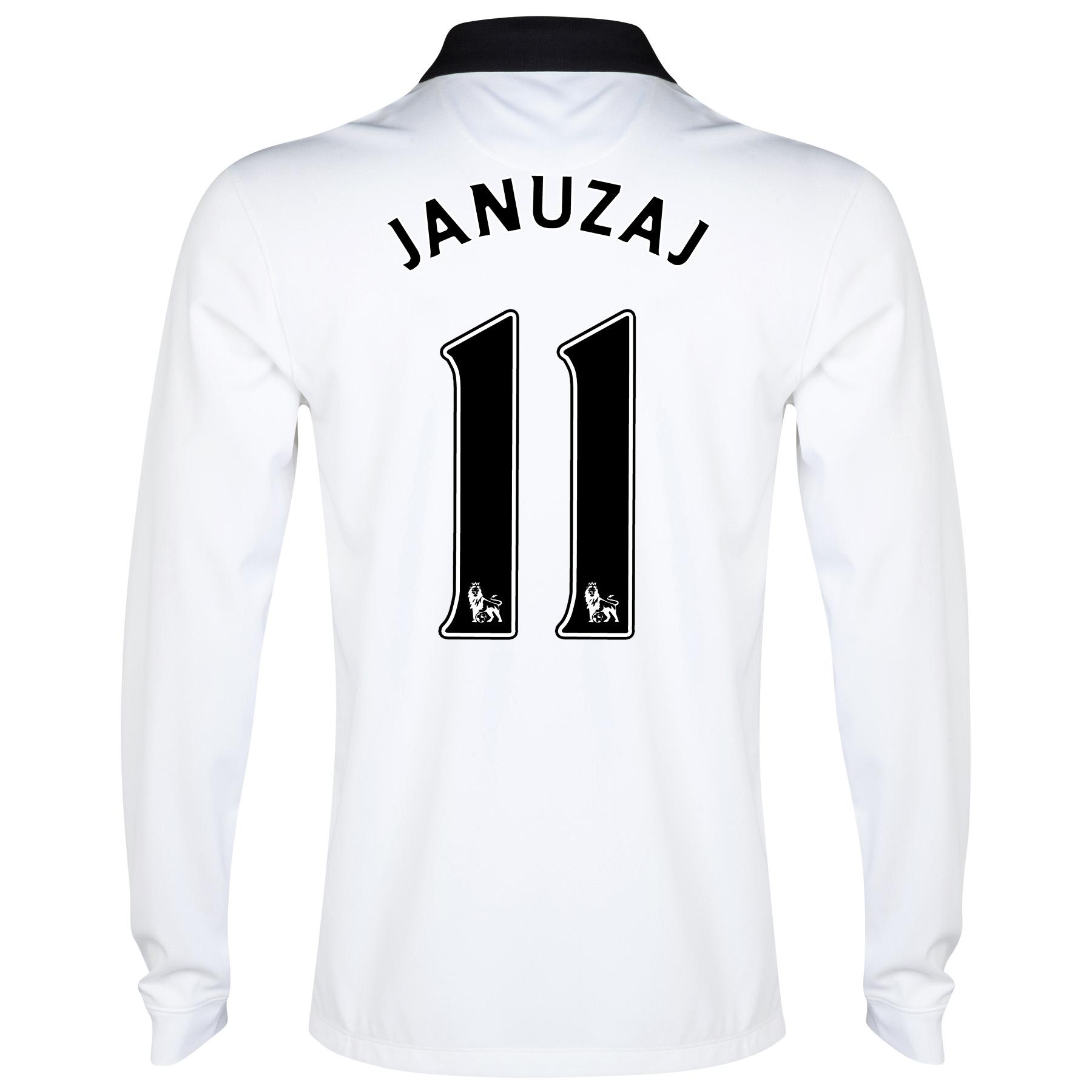 Manchester United Away Shirt 2014/15 - Long Sleeve White with Januzaj 11 printing