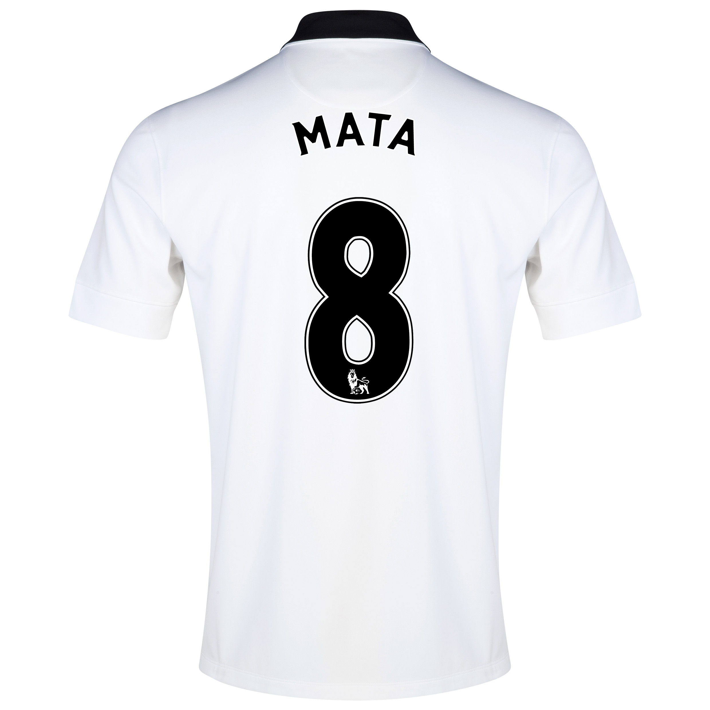 Manchester United Away Shirt 2014/15 - Kids White with Mata 8 printing