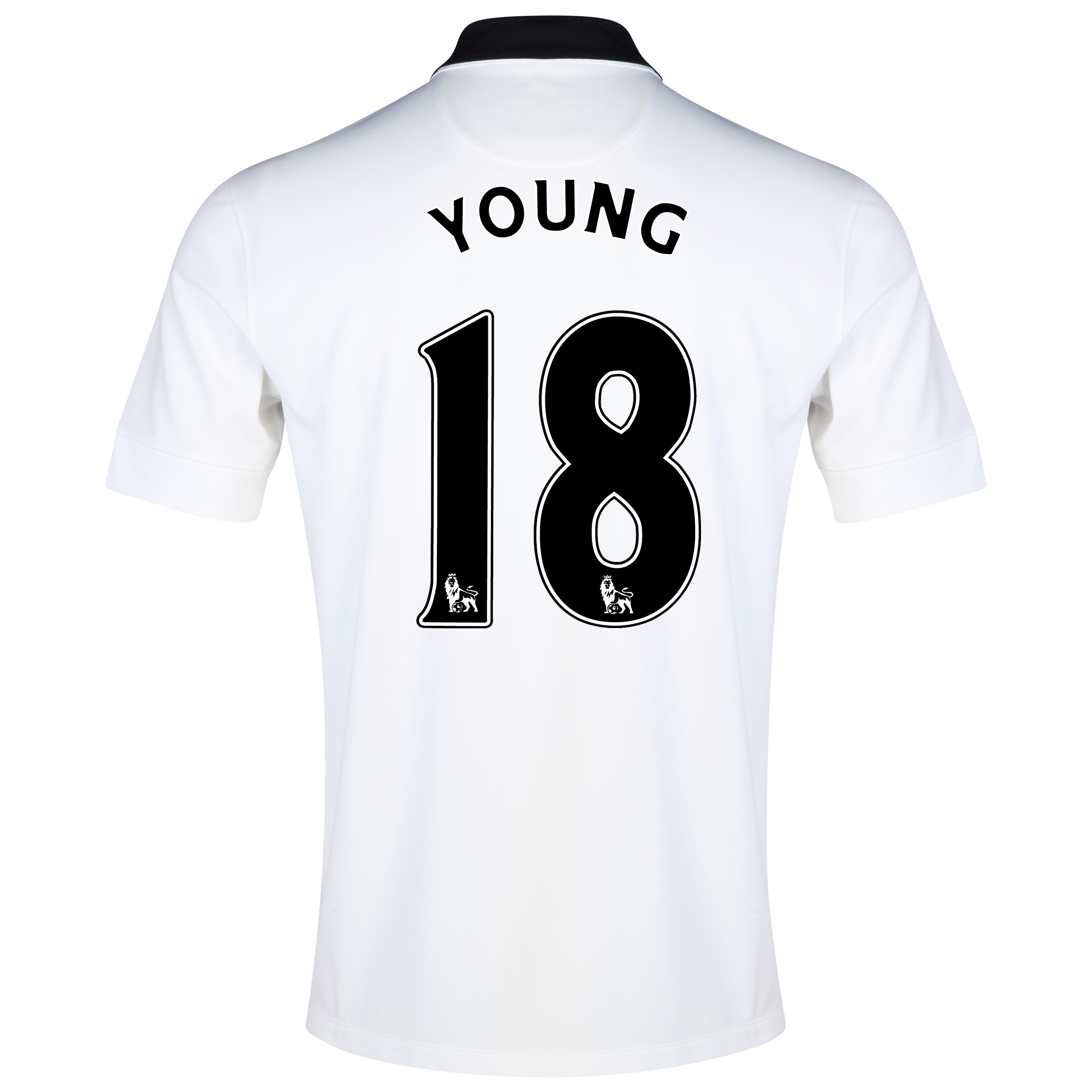 Manchester United Away Shirt 2014/15 - Kids White with Young 18 printing