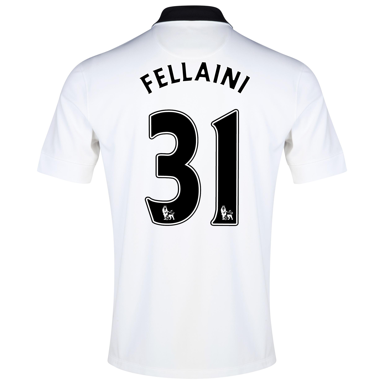 Manchester United Away Shirt 2014/15 - Kids White with Fellaini 31 printing