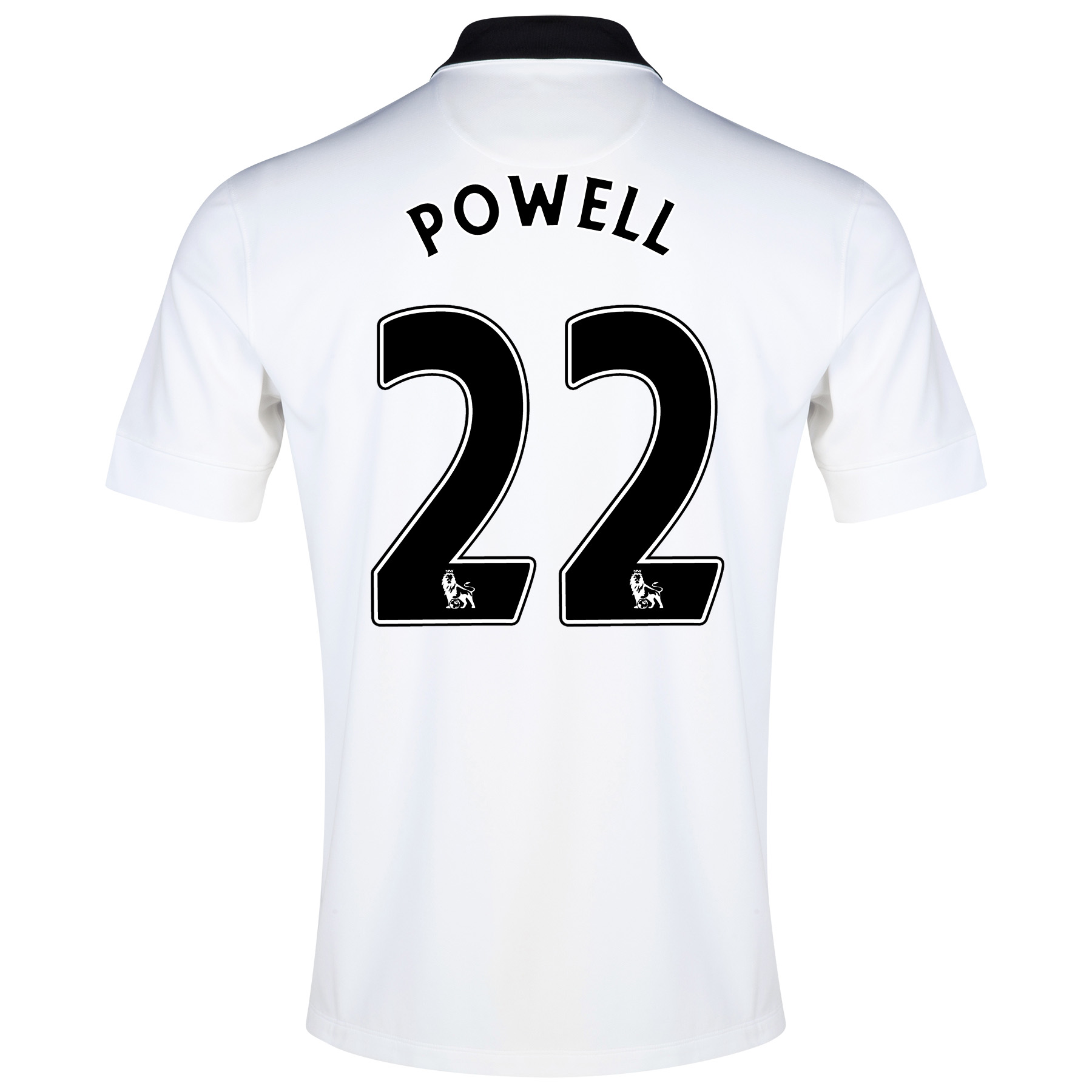 Manchester United Away Shirt 2014/15 - Kids White with Powell 22 printing