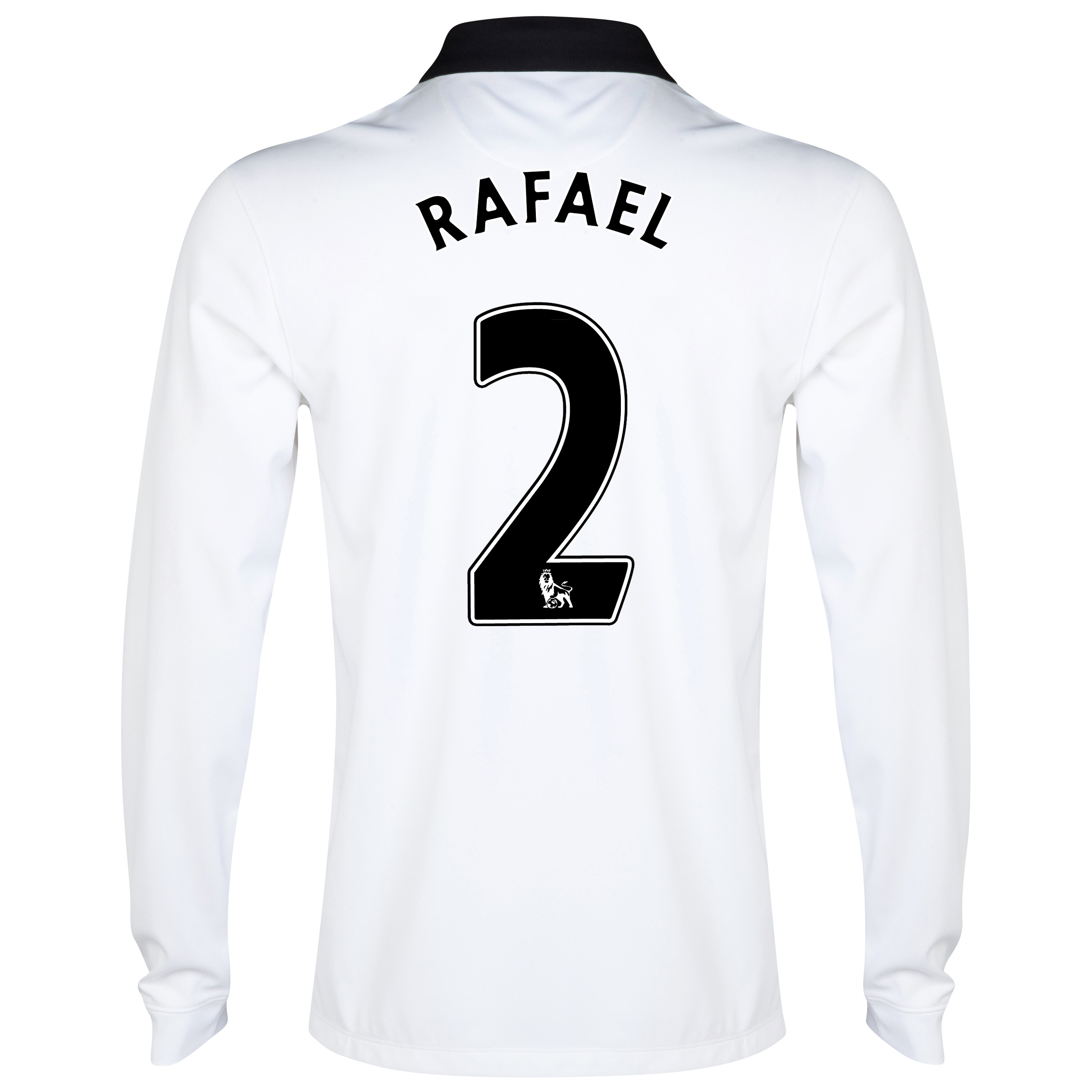 Manchester United Away Shirt 2014/15 - Long Sleeve - Kids White with Rafael 2 printing