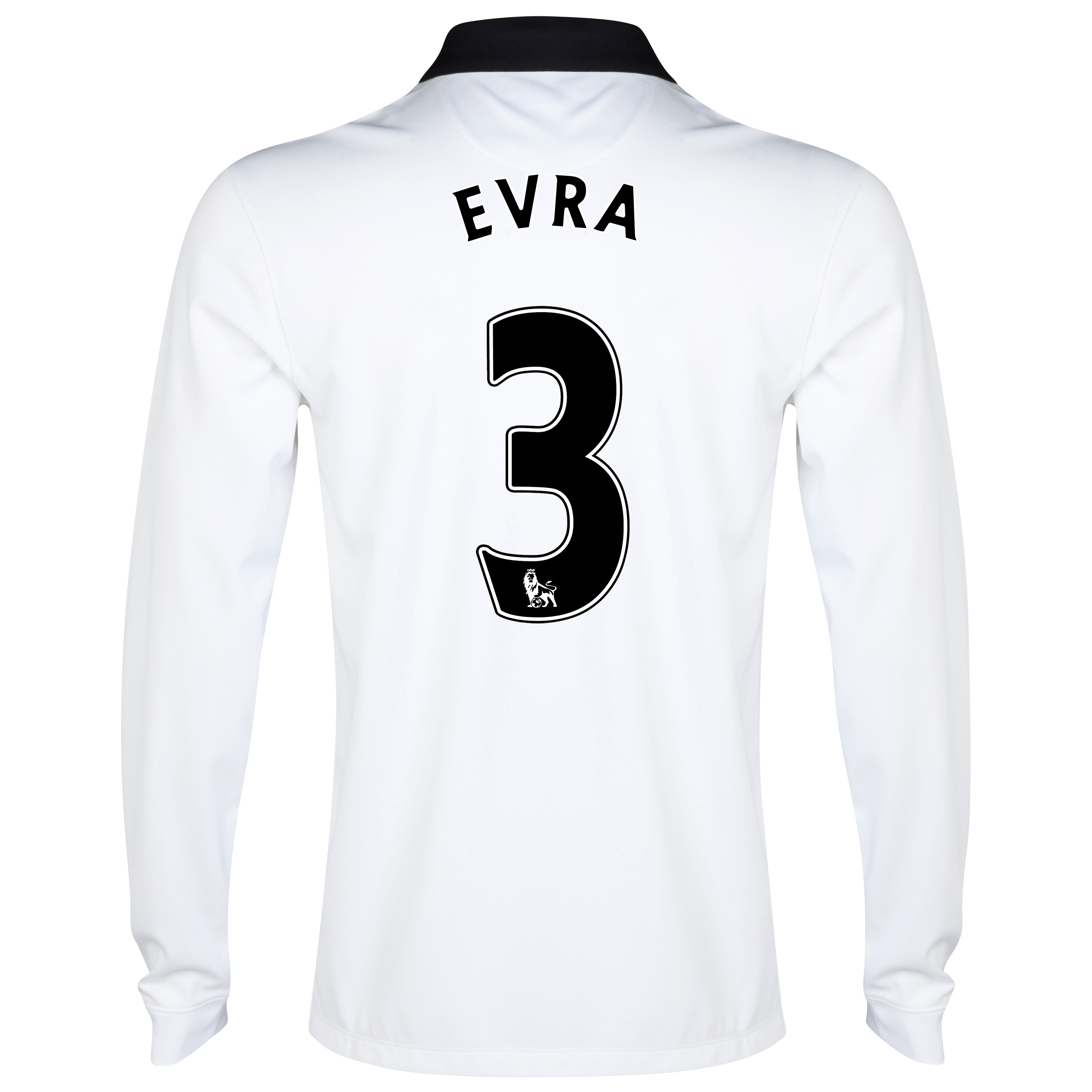 Manchester United Away Shirt 2014/15 - Long Sleeve - Kids White with Evra 3 printing