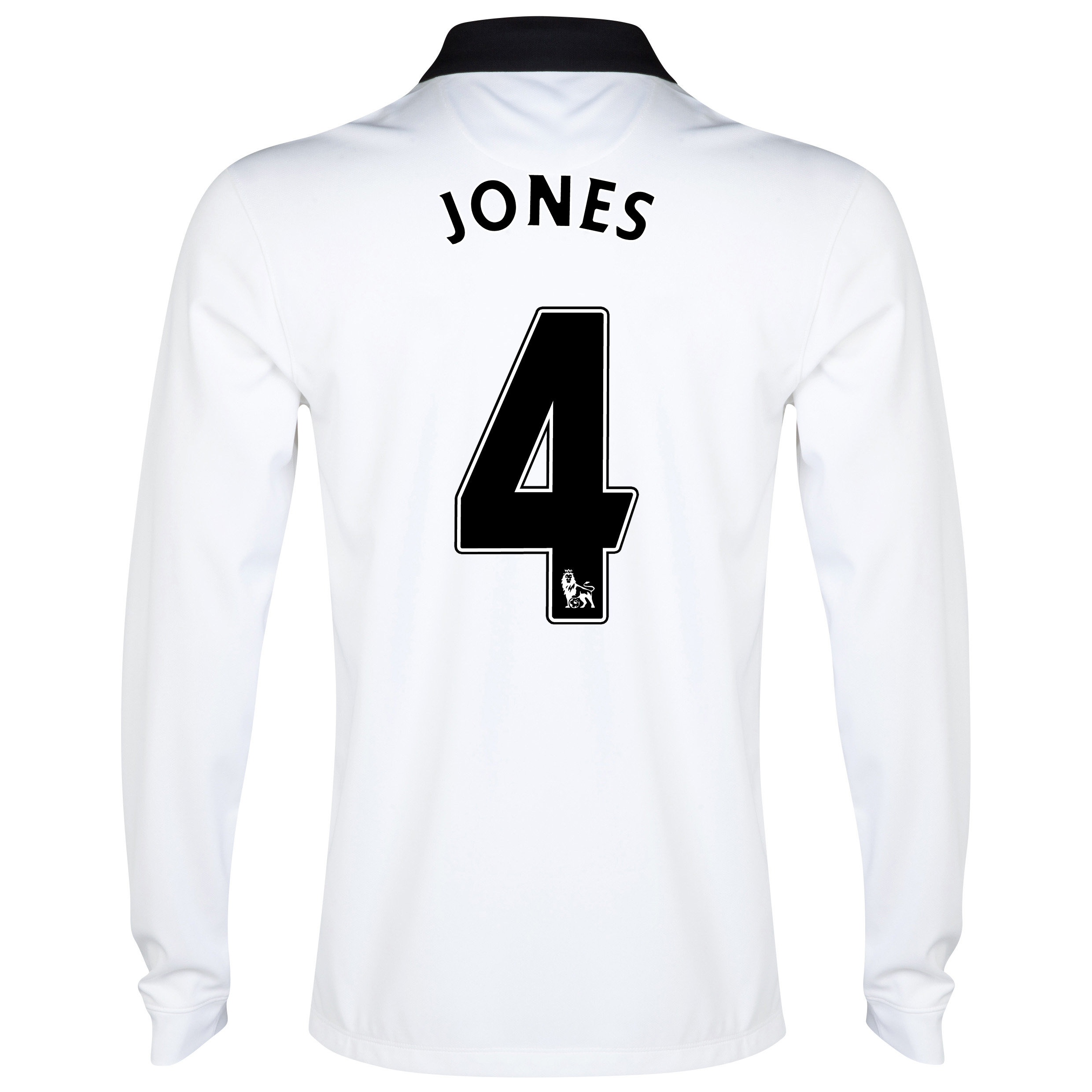 Manchester United Away Shirt 2014/15 - Long Sleeve - Kids White with Jones 4 printing