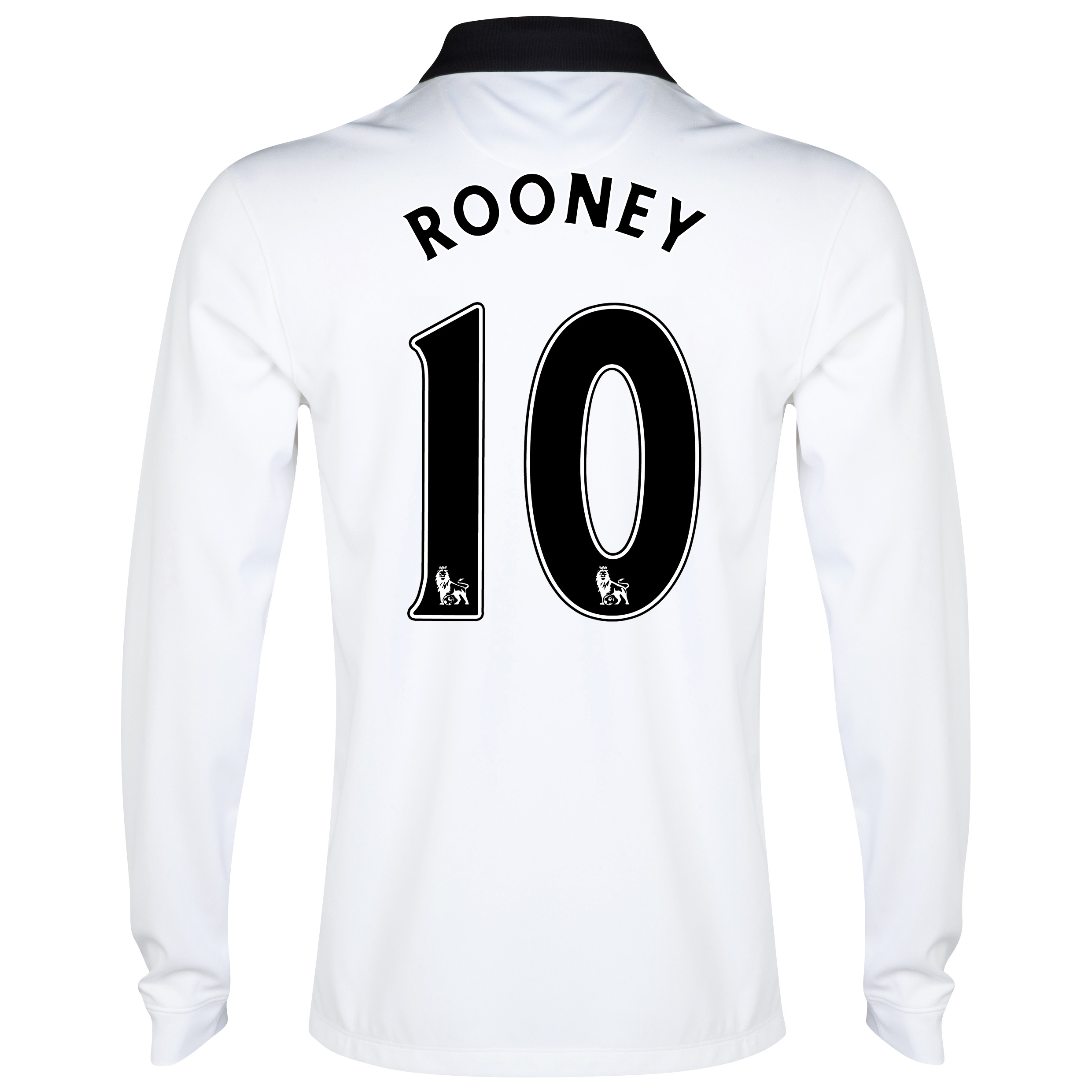 Manchester United Away Shirt 2014/15 - Long Sleeve - Kids White with Rooney 10 printing
